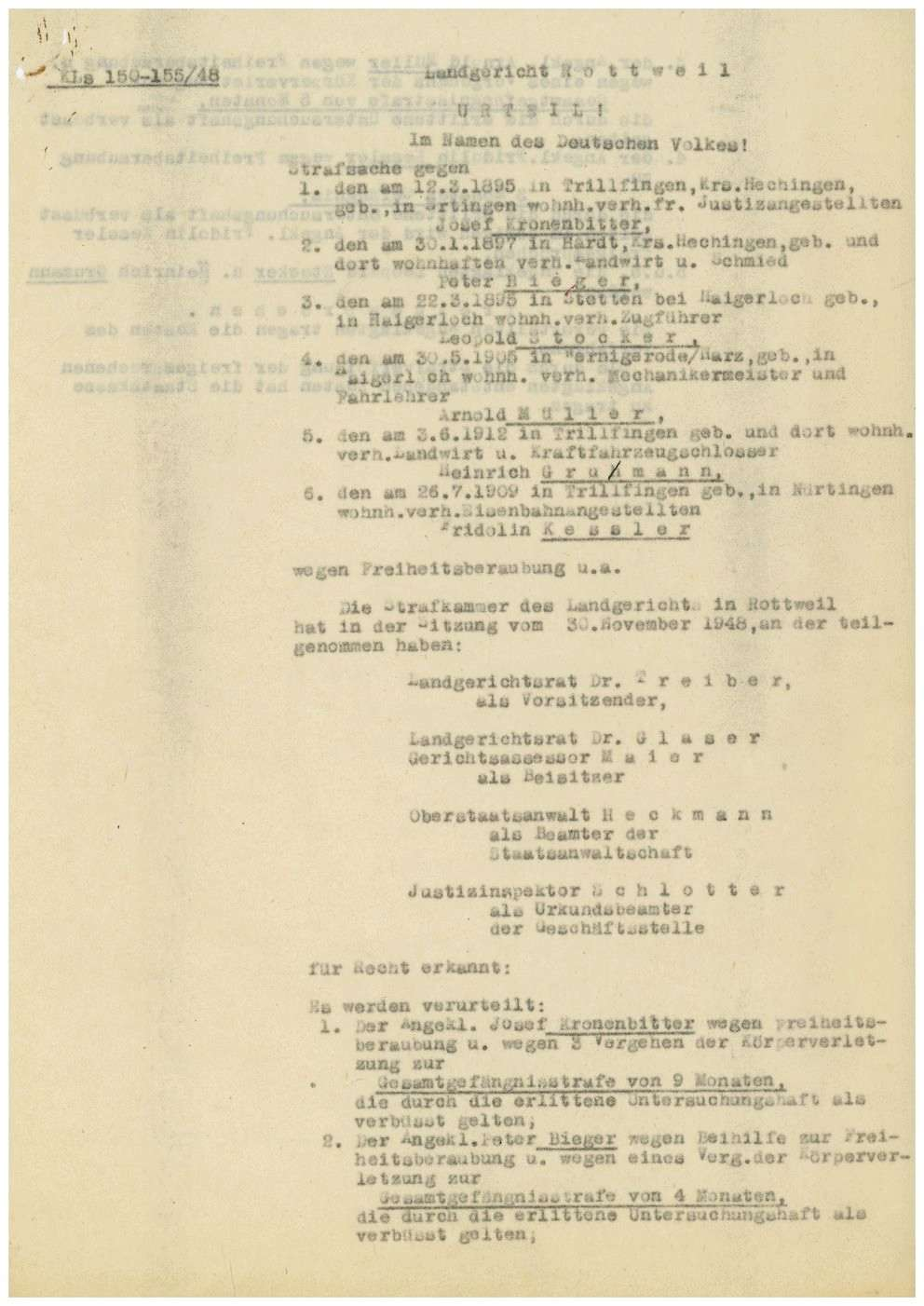 Kronenbitter, Josef, Justizangestellter, Ertingen, Bild 2