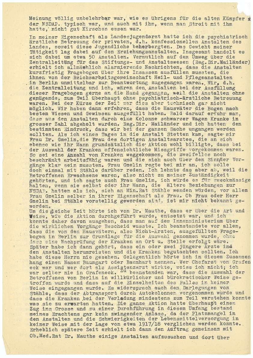 Dr. med. Max Eyrich - Vernehmung am 10.07.1945 durch den Polizeichef Stuttgart - Bl. 1-4, Bild 2