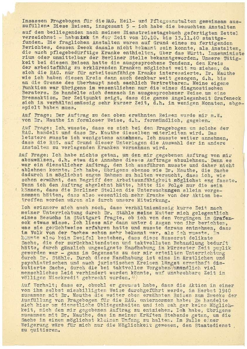 Dr. med. Max Eyrich - Vernehmung am 10.07.1945 durch den Polizeichef Stuttgart - Bl. 1-4, Bild 3