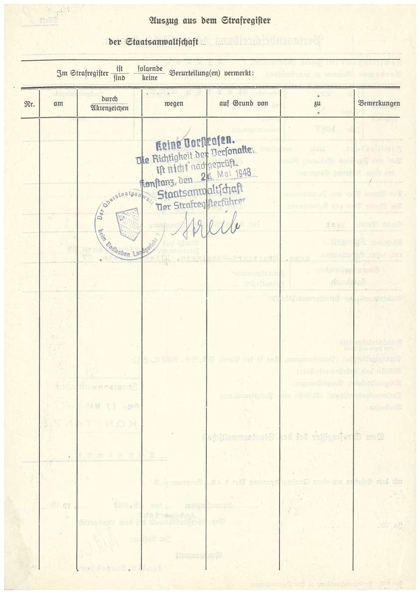 Dr. med. Max Eyrich - Vernehmung am 08.03.1948 durch das Amtsgericht Münsingen, Personenbeschreibung - Qu. 5-7, Qu. 8, Bild 2