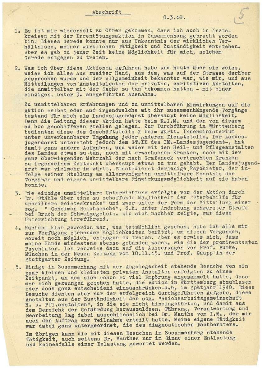Dr. med. Max Eyrich - Vernehmung am 08.03.1948 durch das Amtsgericht Münsingen, Personenbeschreibung - Qu. 5-7, Qu. 8, Bild 3