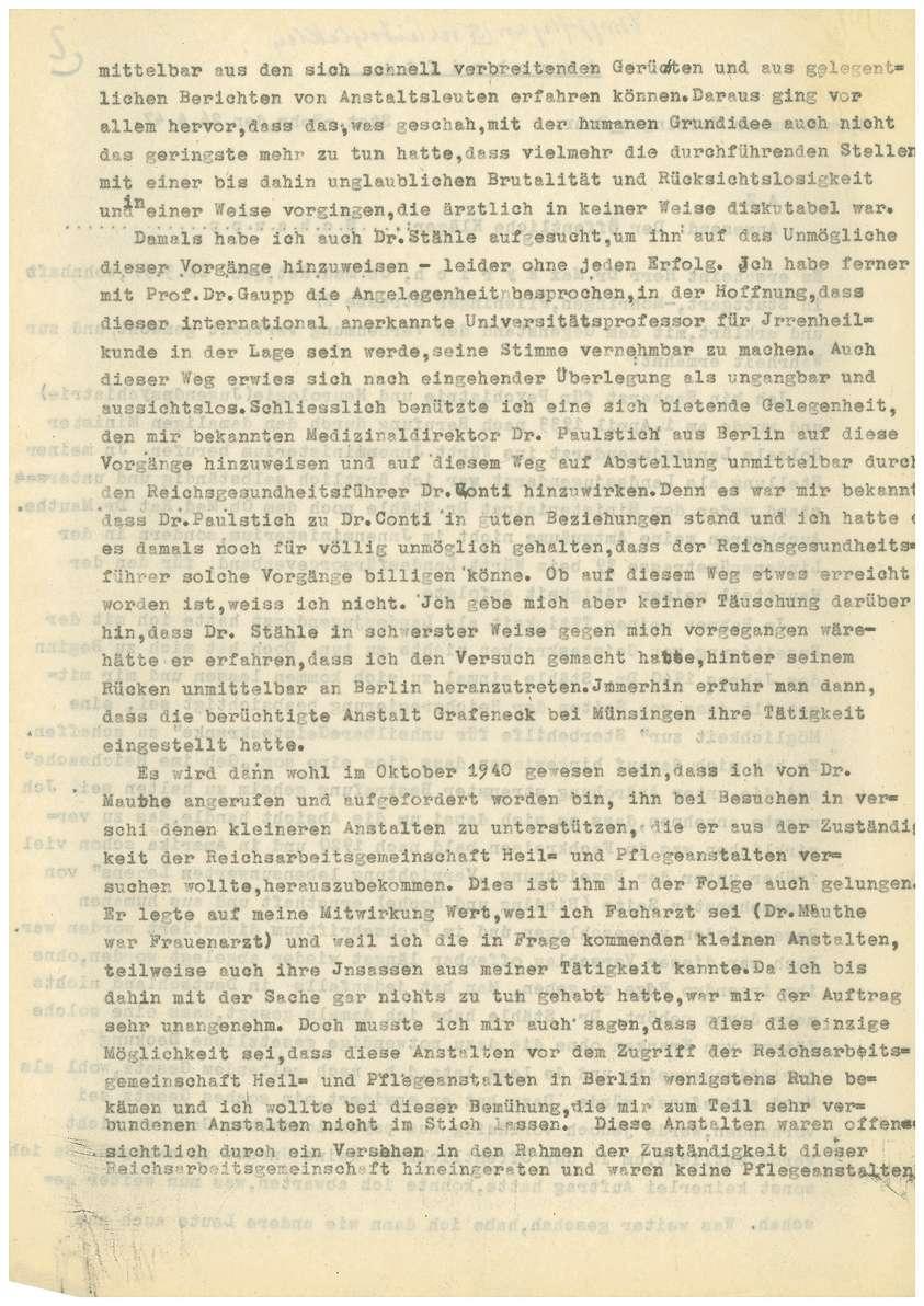 Dr. med. Max Eyrich - Vernehmung am 26.04.1947 (Abschrift) - Qu. 1-8, Bild 2