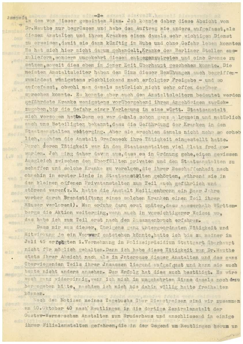 Dr. med. Max Eyrich - Vernehmung am 26.04.1947 (Abschrift) - Qu. 1-8, Bild 3