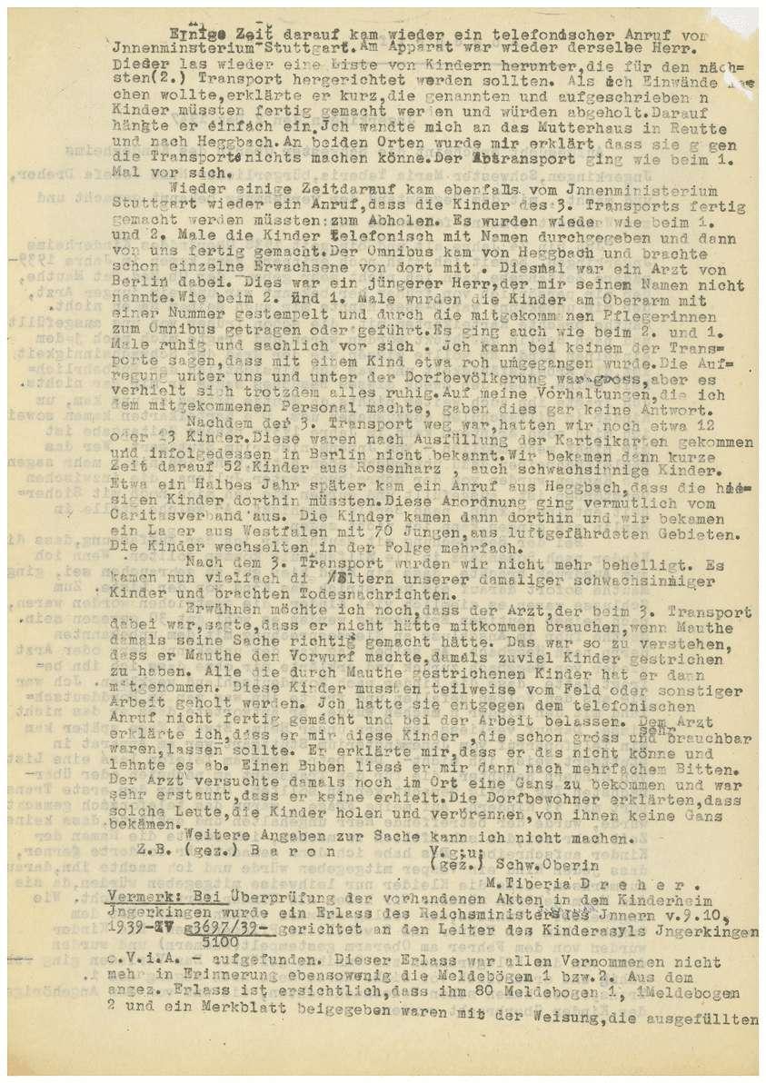 Zeugenaussagen - Kinderheim Ingerkingen, Piuspflege Oggelsbeuren, Bild 3
