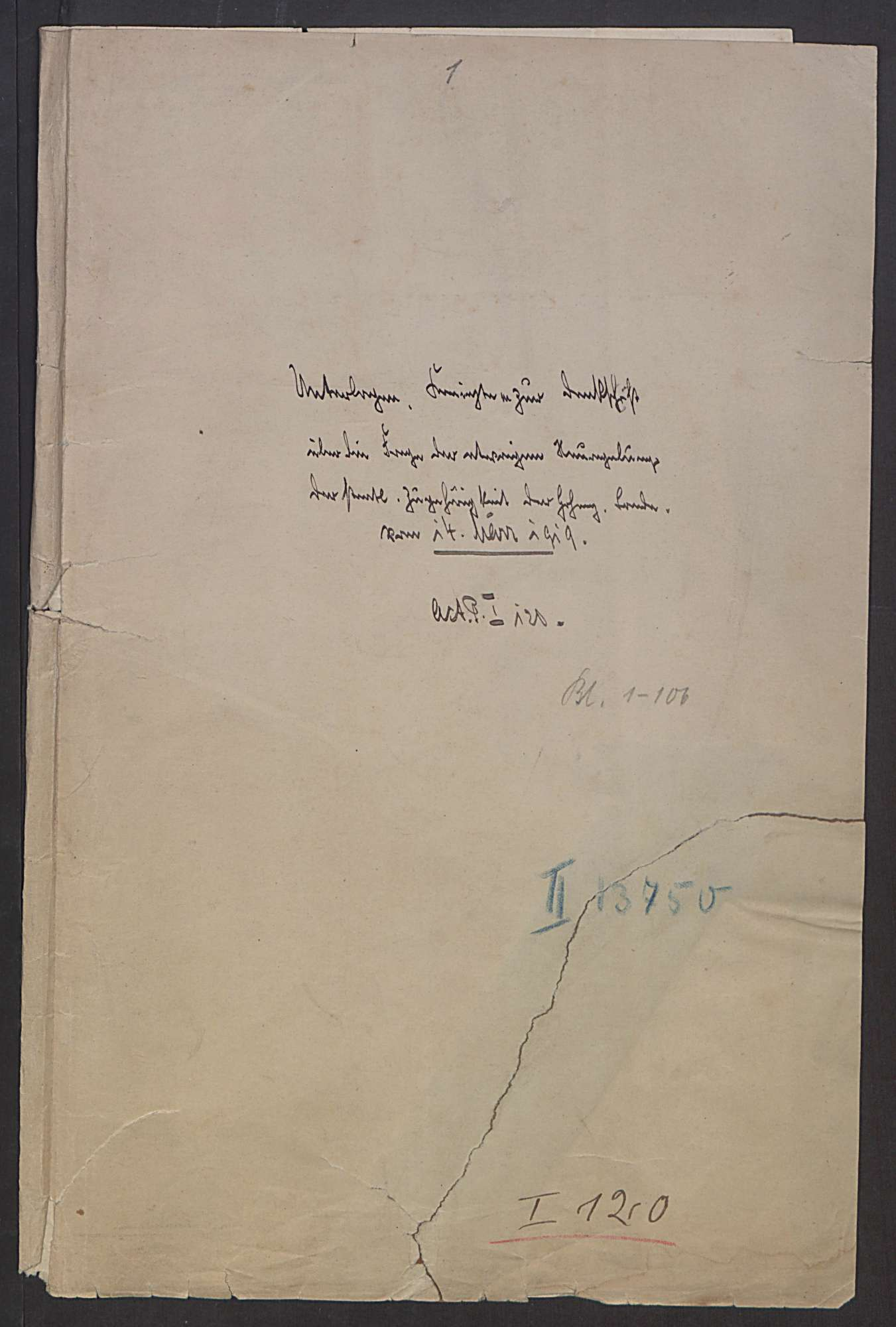 Denkschrift des Regierungspräsidenten Graf von Brühl über die etwaige Neuregelung der staatlichen Zugehörigkeit der Hohenzollerischen Lande vom 14. März 1919, Bild 2