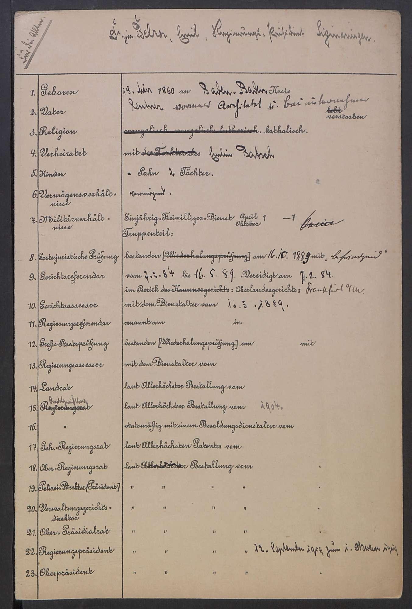 Verwaltung des Regierungspräsidiums, Bild 1