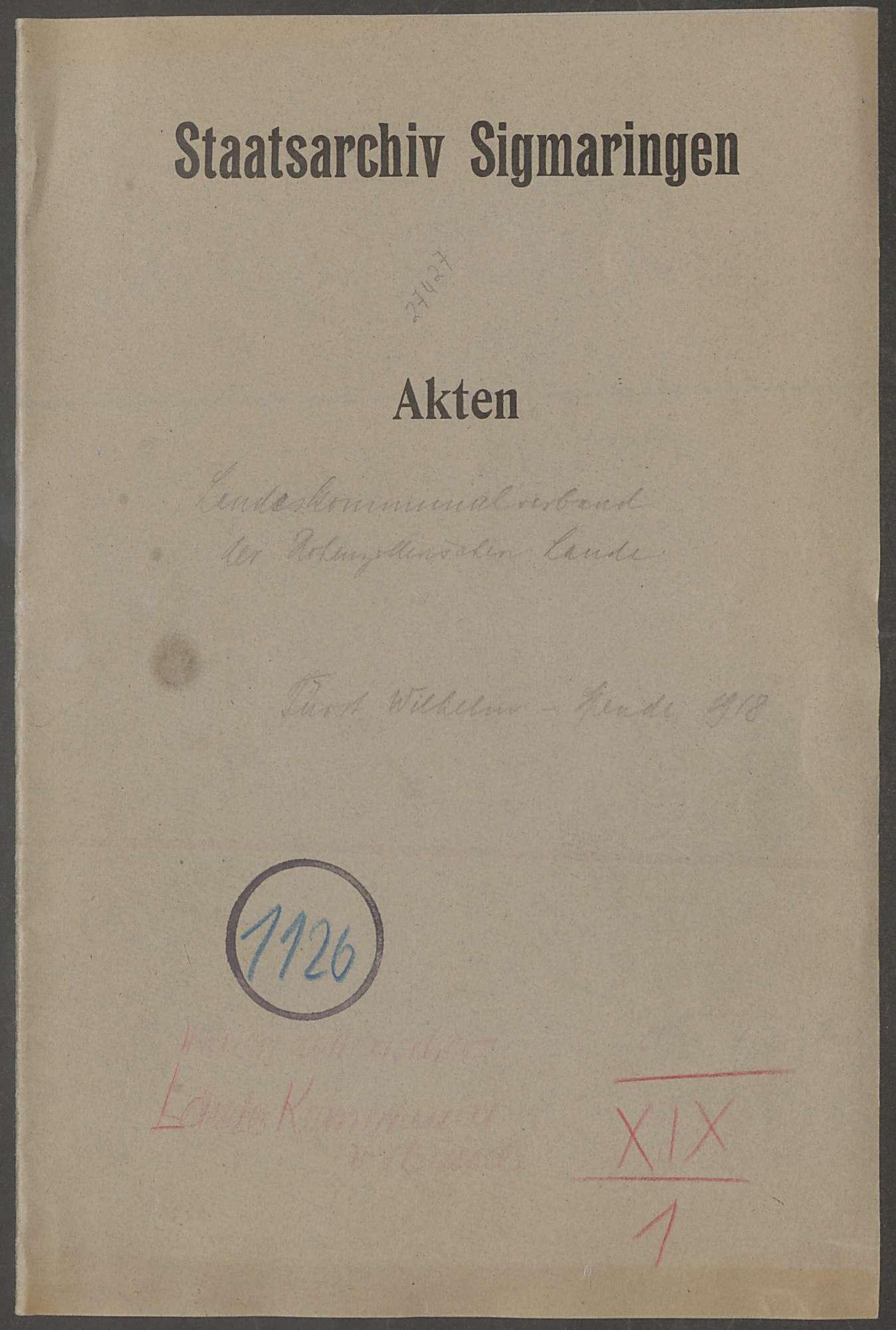 Fürst Wilhelm-Spende zu Gunsten der durch den Krieg Geschädigten - Bd. 1, Bild 1