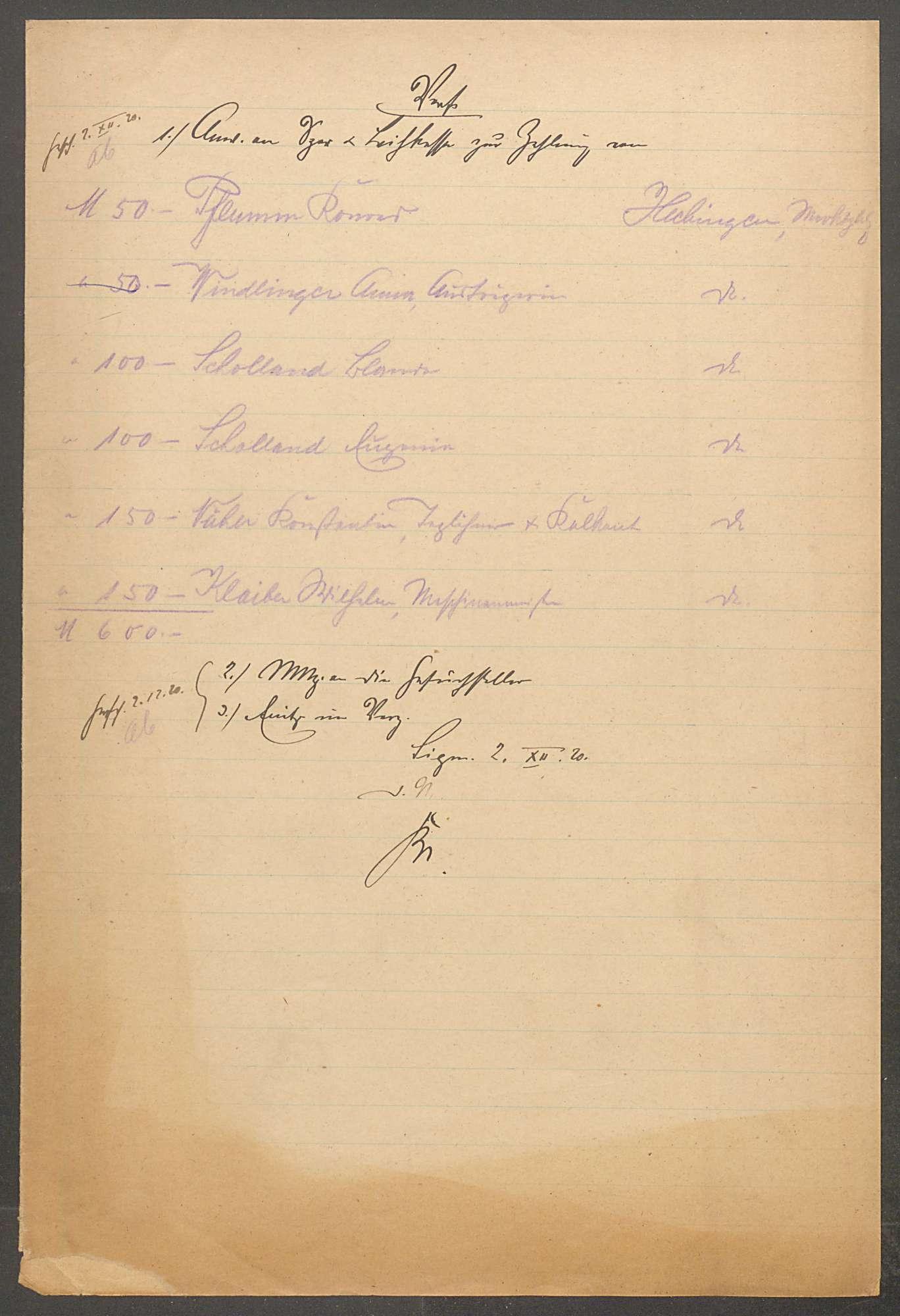 Fürst Wilhelm-Spende zu Gunsten der durch den Krieg Geschädigten in Hechingen - Bd. 1, Bild 2