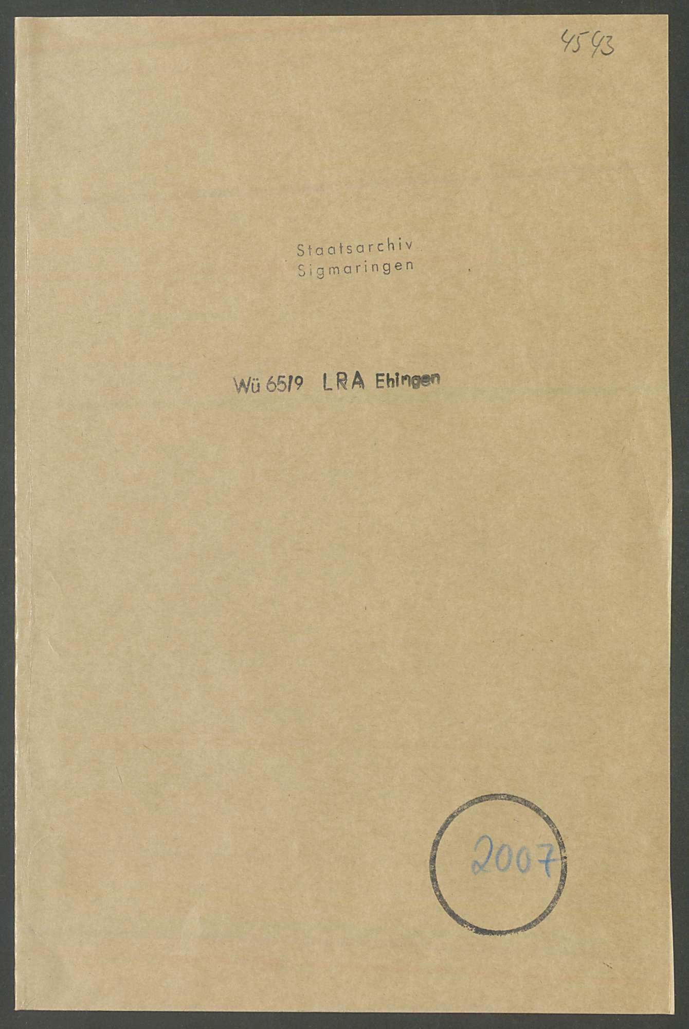 Enteignung von Bauland des Freiherrn von Ulm-Erbach zugunsten des Bau- und Sparvereins Erbach, mit Lageplan (Qu. 1), Bild 1