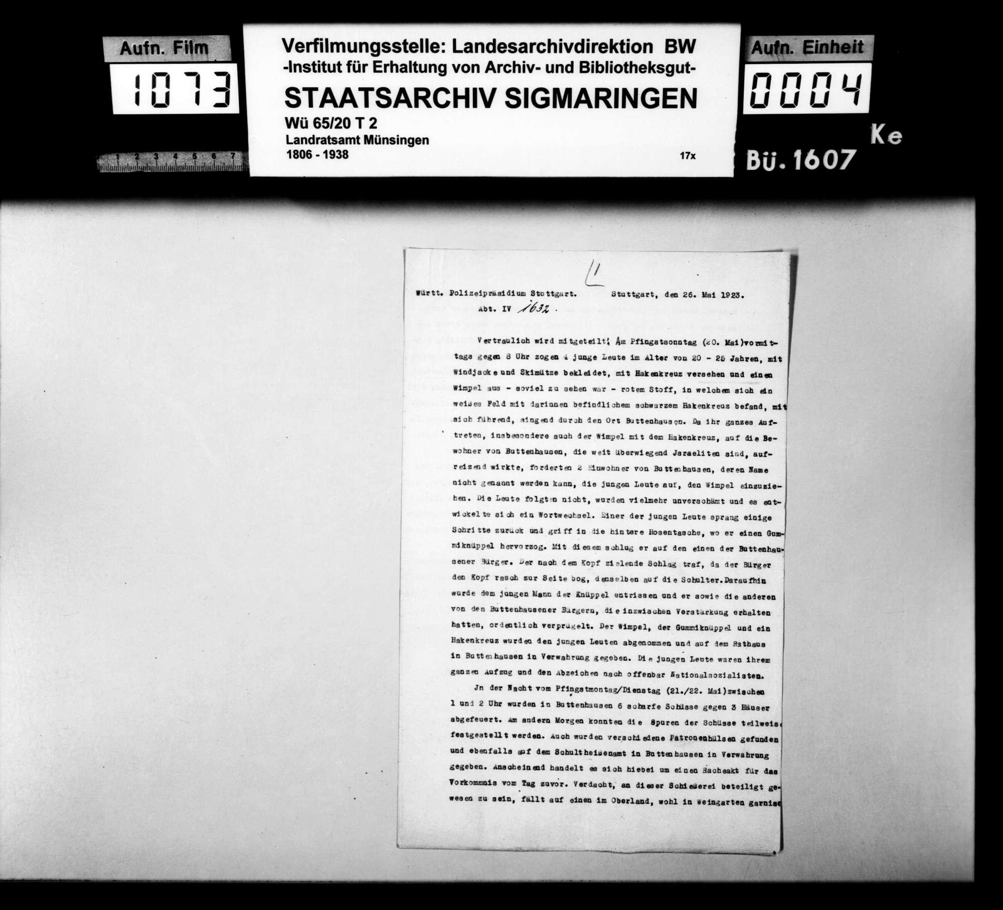 Nationalsozialistische Ausschreitungen gegen Juden in Buttenhausen, Bild 1