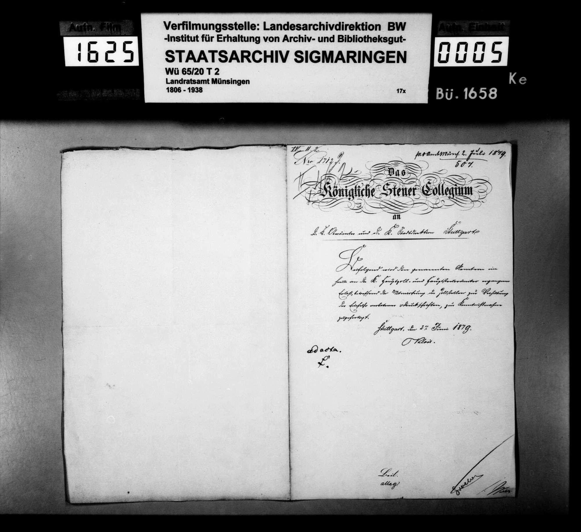 Von der Regierung übersandte Verzeichnisse von beschlagnahmten Druckschriften der Sozialdemokratie und der Anarchisten, Bild 1