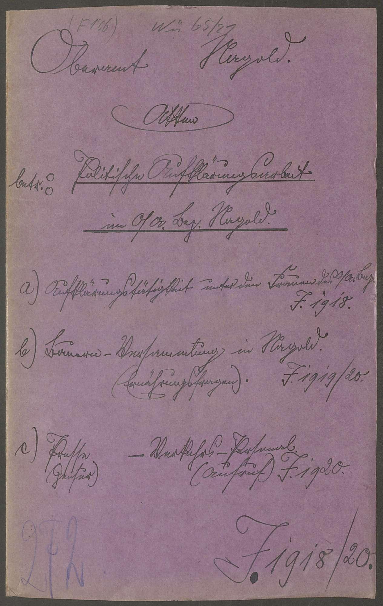 Politische Aufklärungsarbeit im Oberamtsbezirk Nagold, Bild 1
