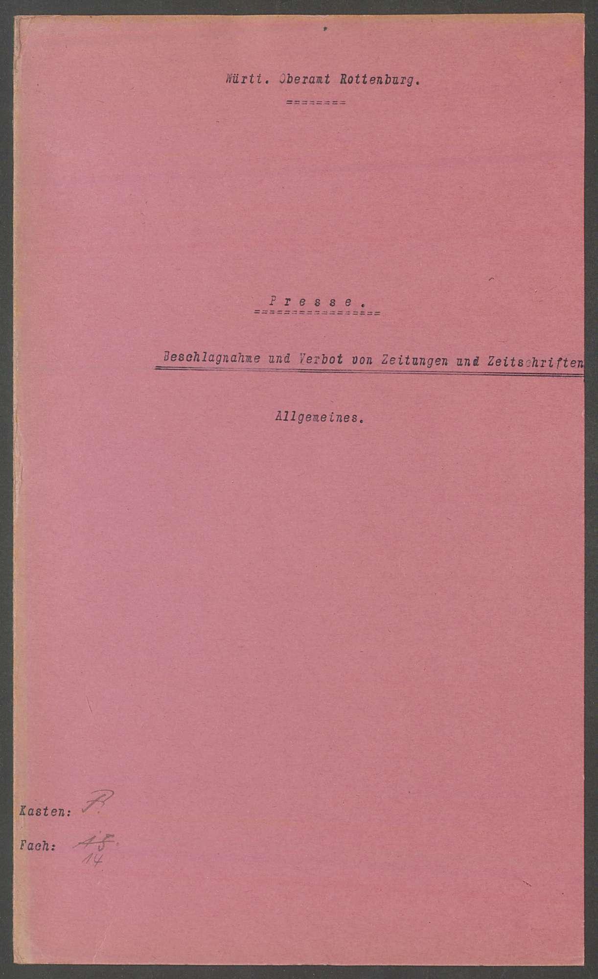 Beschlagnahme von Zeitschriften etc., Verbote, Bild 2