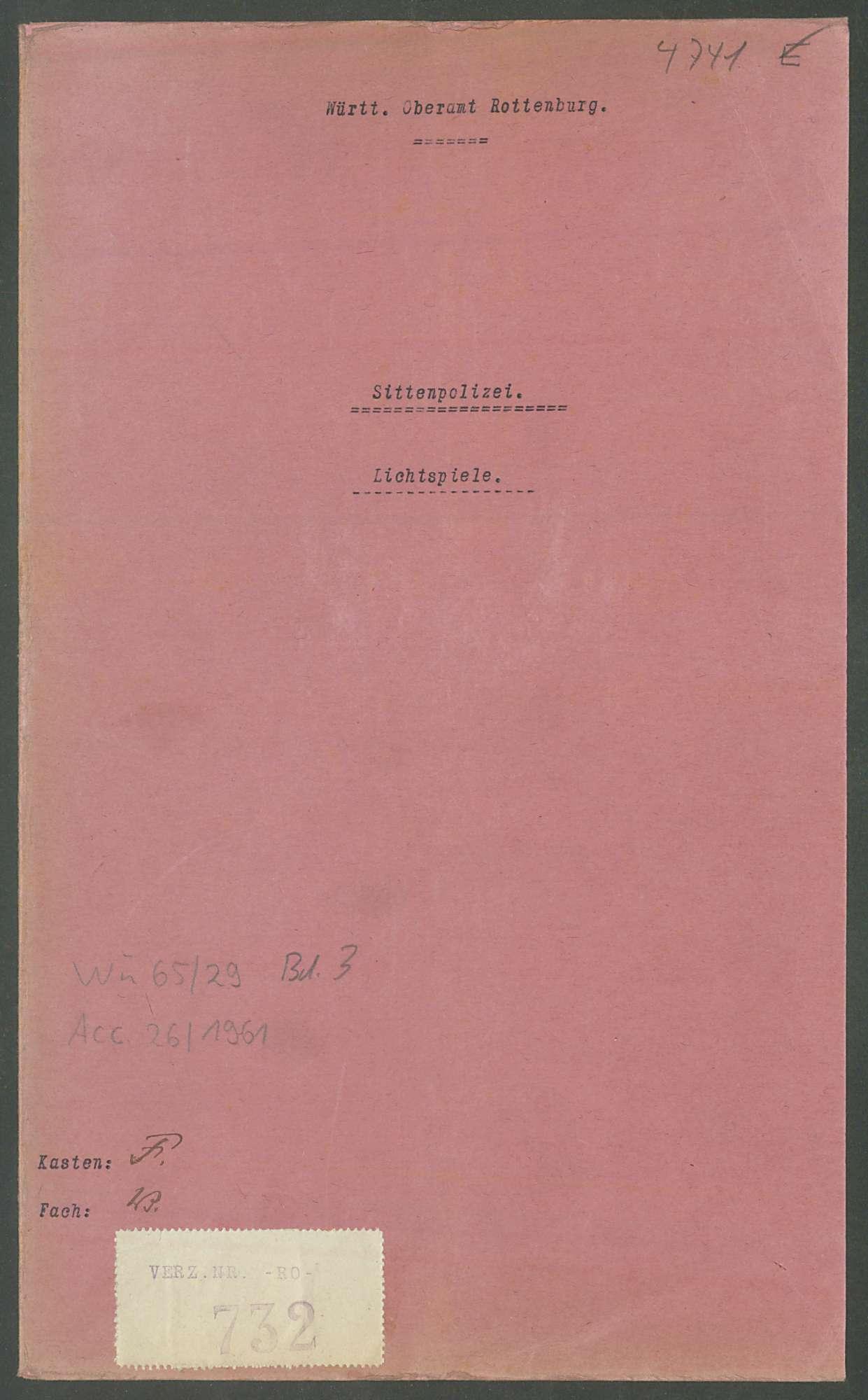 Lichtspiele: Allgemeines und Einzelfälle, Bild 1