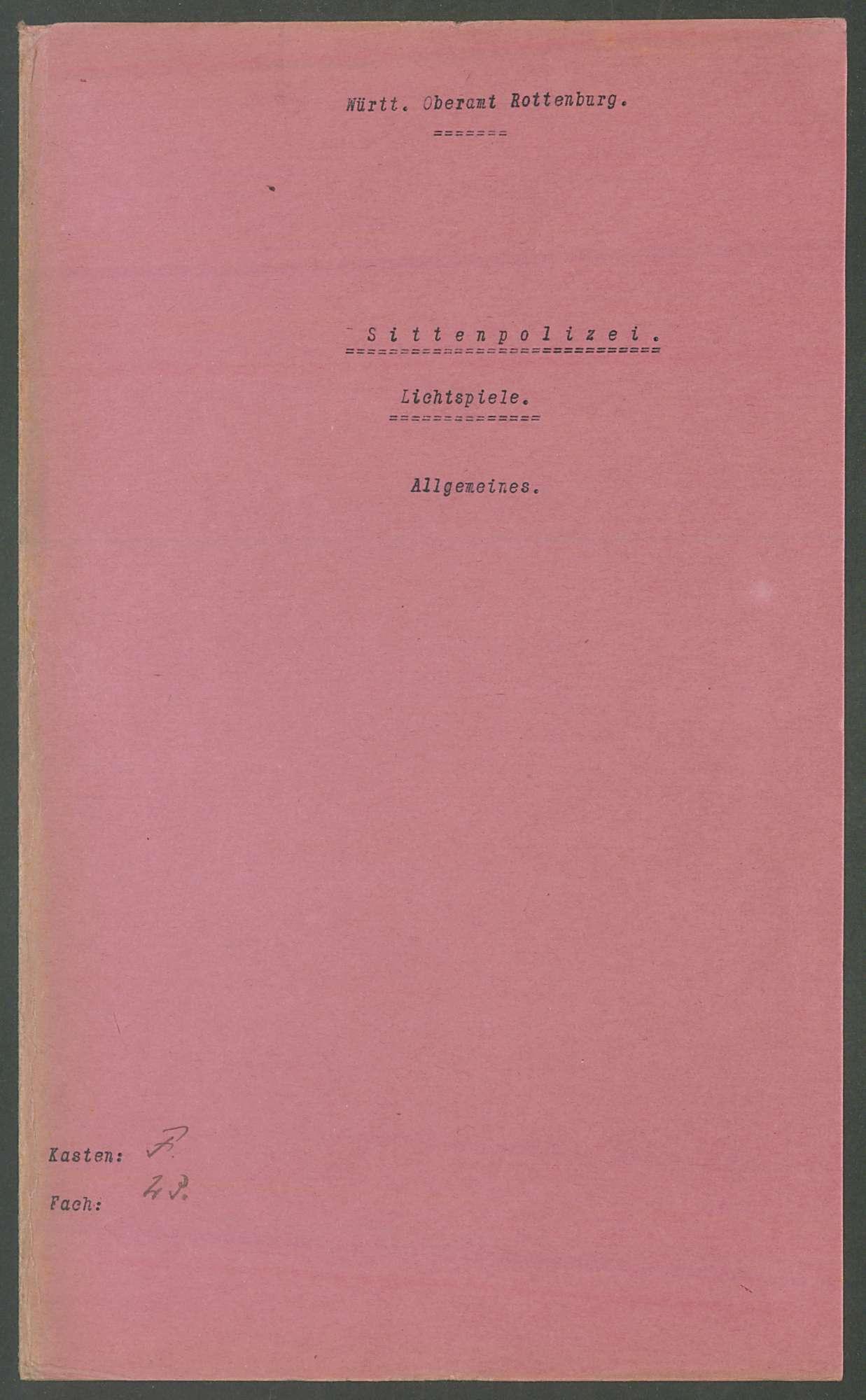 Lichtspiele: Allgemeines und Einzelfälle, Bild 2
