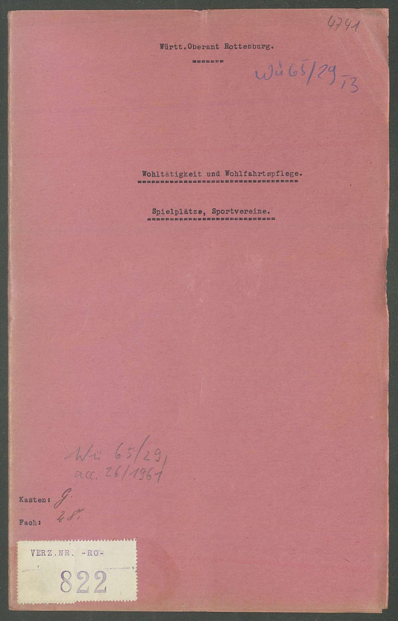 Wohltätigkeit und Wohlfahrtspflege, Spielplätze, Sportvereine: Allgemeines, Einzelfälle, Bild 1