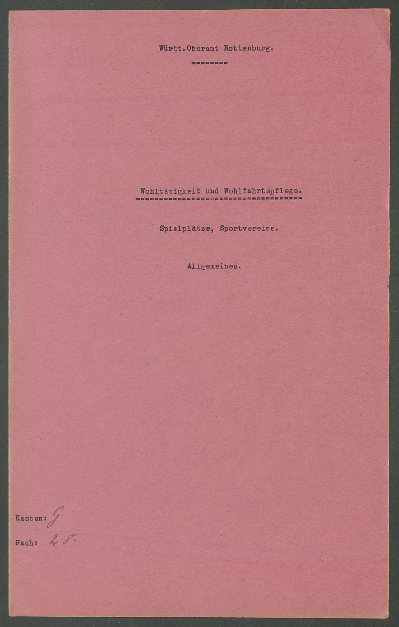 Wohltätigkeit und Wohlfahrtspflege, Spielplätze, Sportvereine: Allgemeines, Einzelfälle, Bild 2