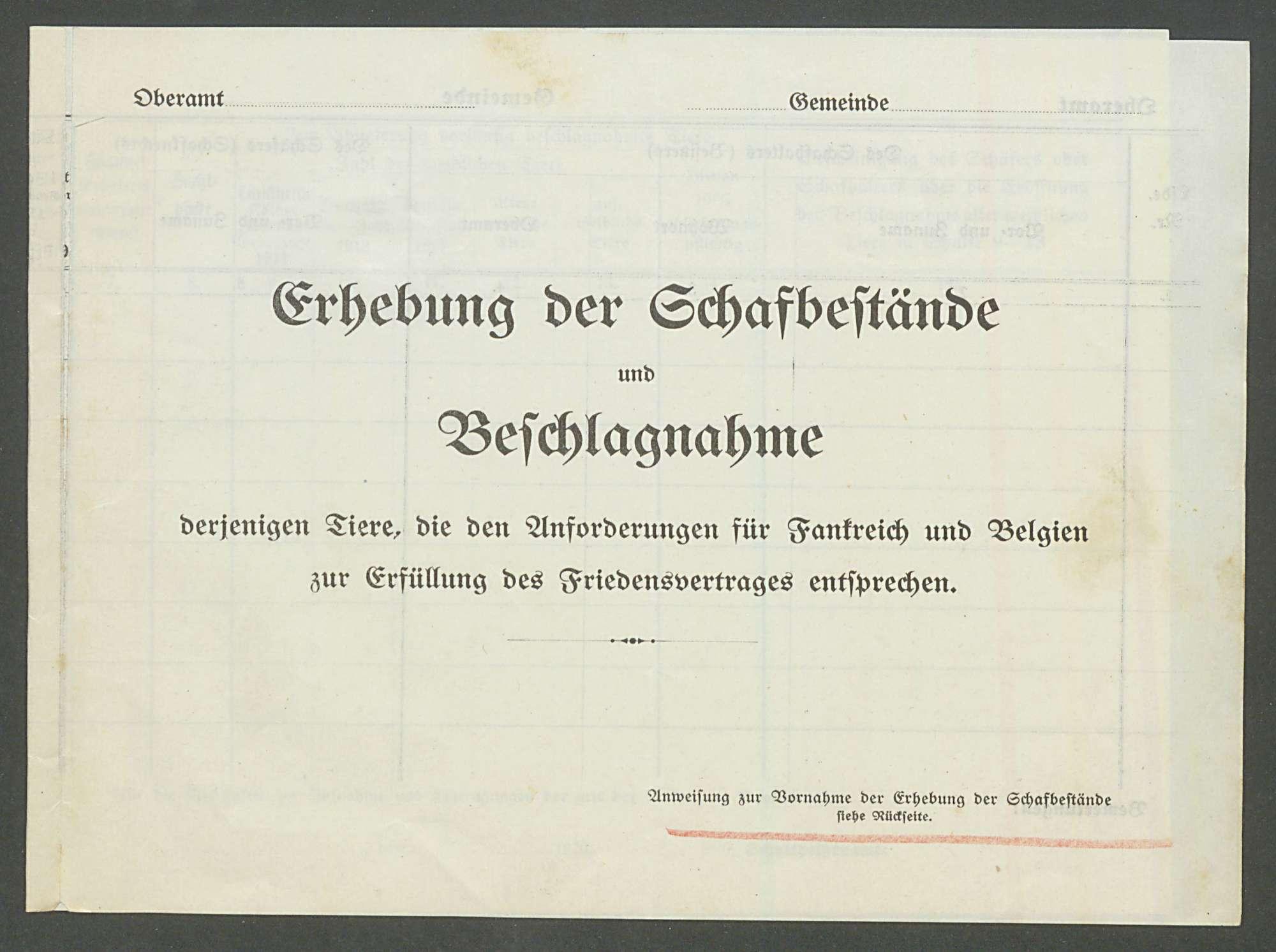 Nutzviehlieferungen an Frankreich u. Belgien zur Erfüllung des Friedensvertrages, Bild 3