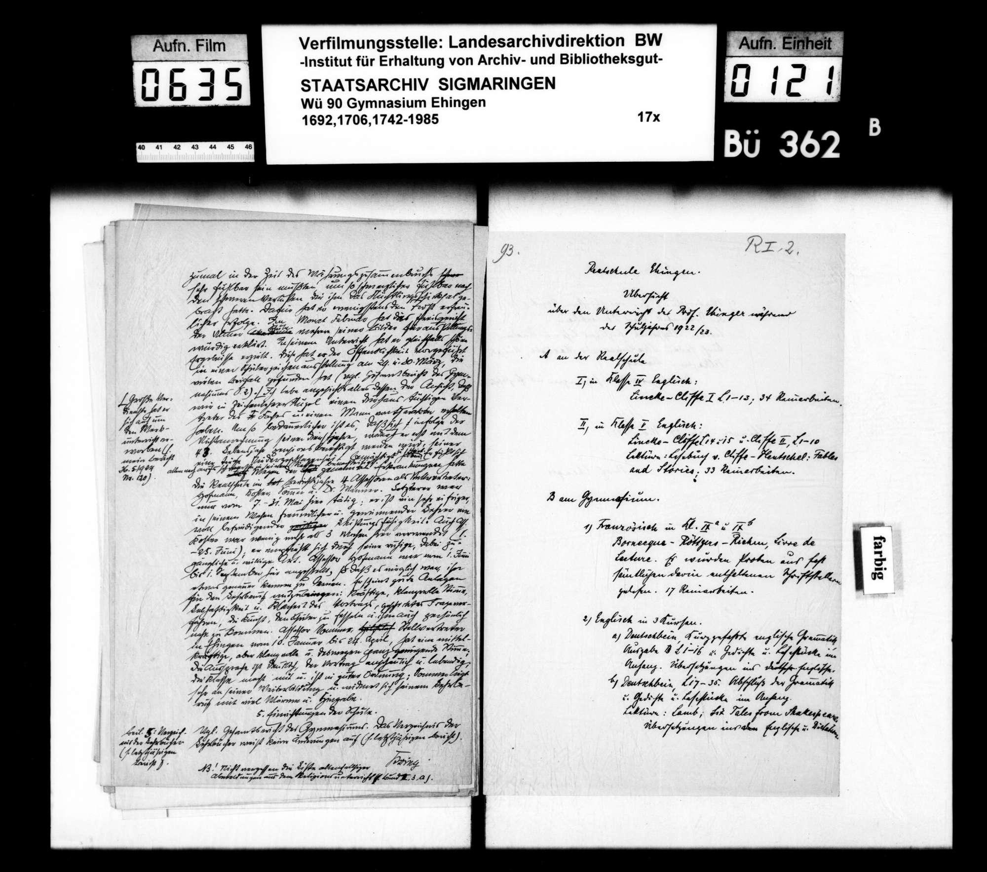 Rechenschaftsberichte und Visitationen, Allgemeines und Einzelfälle, Bild 120