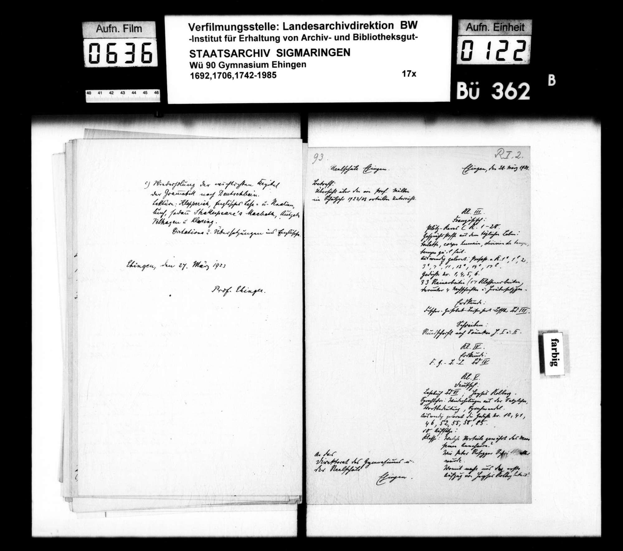 Rechenschaftsberichte und Visitationen, Allgemeines und Einzelfälle, Bild 121