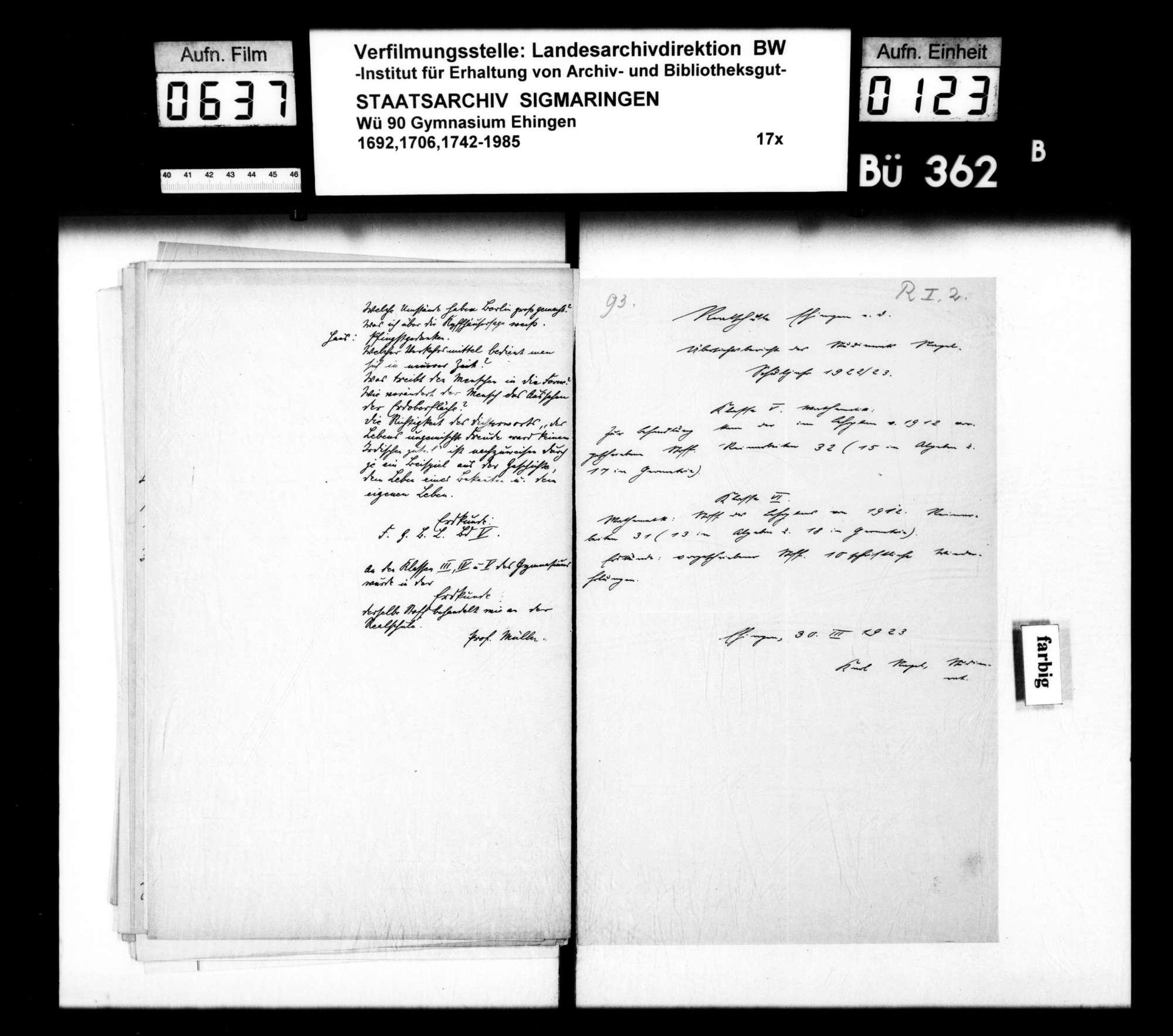 Rechenschaftsberichte und Visitationen, Allgemeines und Einzelfälle, Bild 122