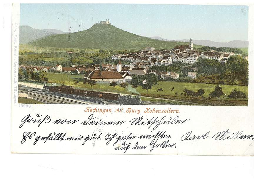 Hechingen und die Burg Hohenzollern, Bild 1