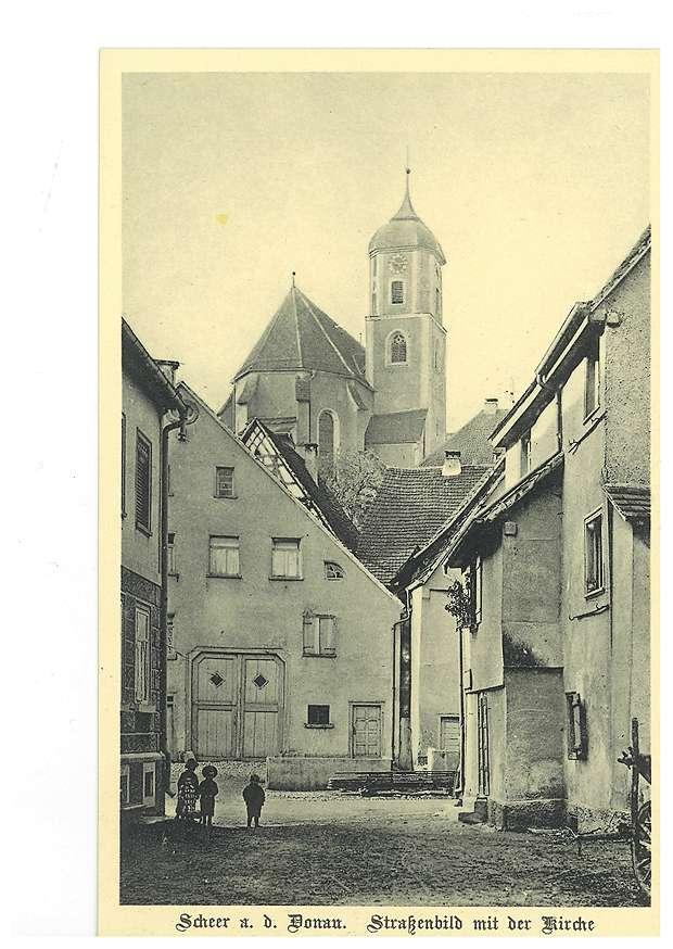 Kirche und Straßenbild in Scheer an der Donau, Bild 1
