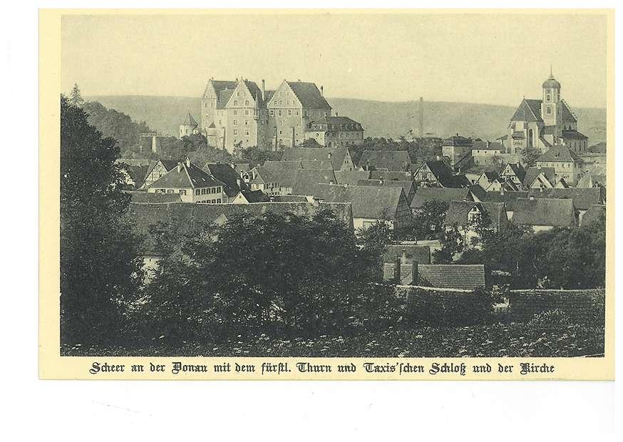 Stadt, Schloss und Kirche in Scheer an der Donau, Bild 1