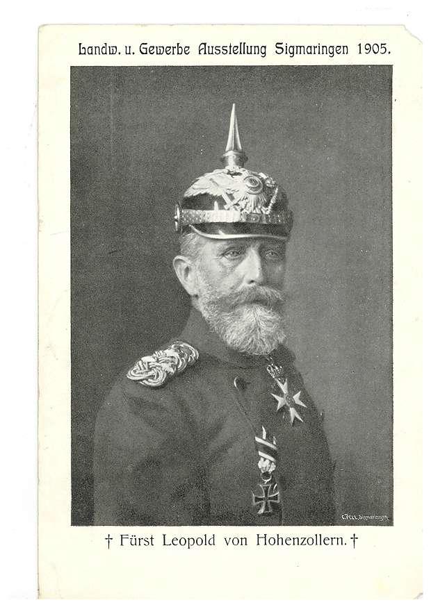 Fürst Leopold von Hohenzollern (Postkarte zur Sigmaringer Gewerbe-Ausstellung 1905), Bild 1