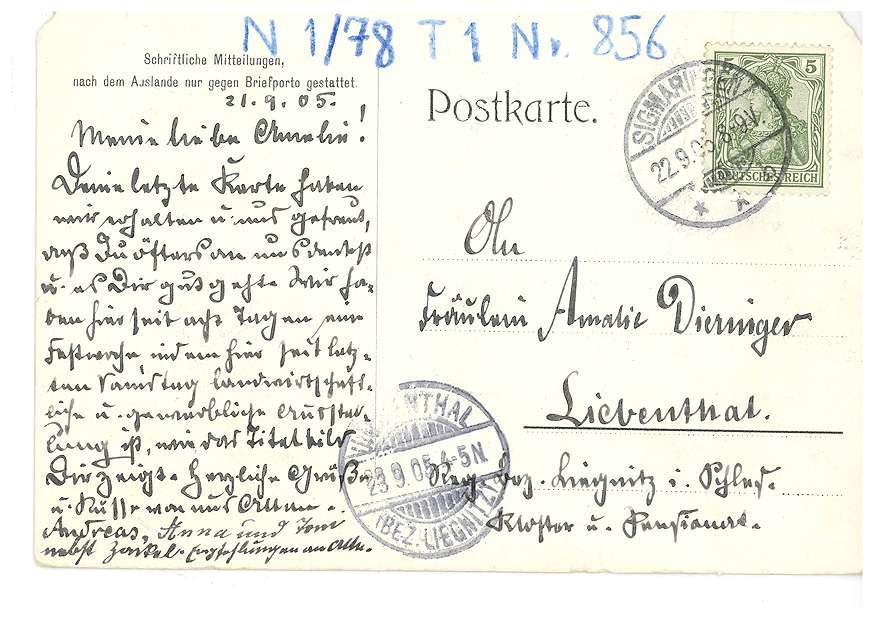 Fürst Leopold von Hohenzollern (Postkarte zur Sigmaringer Gewerbe-Ausstellung 1905), Bild 2