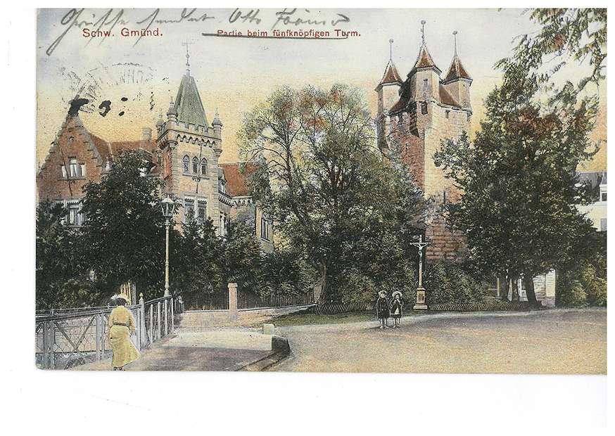 Partie beim fünfköpfigen Turm in Schwäbisch Gmünd, Bild 1