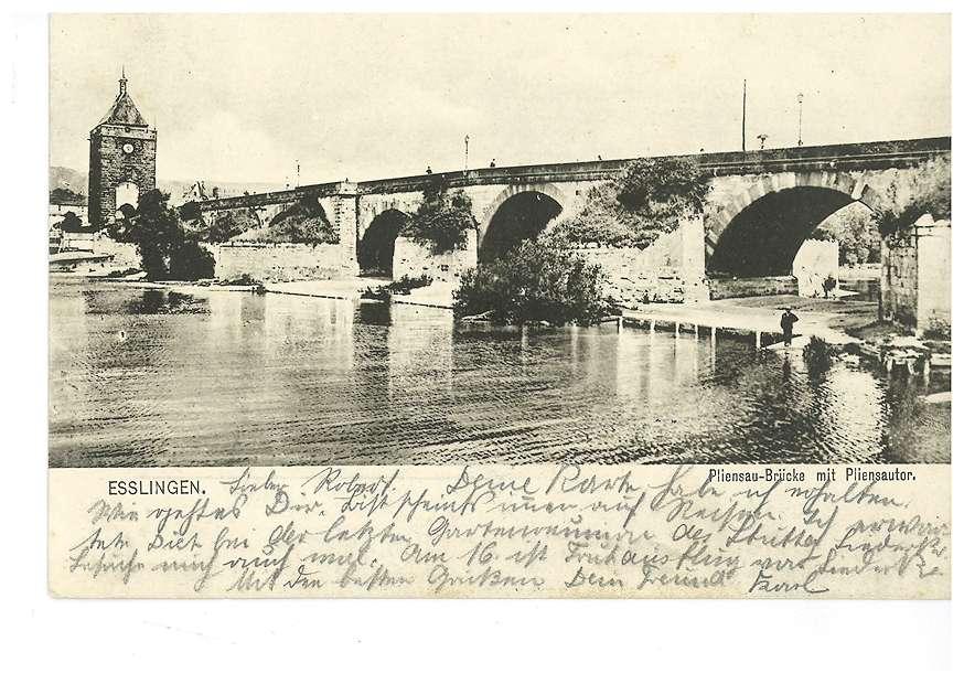 Pliensau-Brücke mit Pliensautor in Esslingen, Bild 1