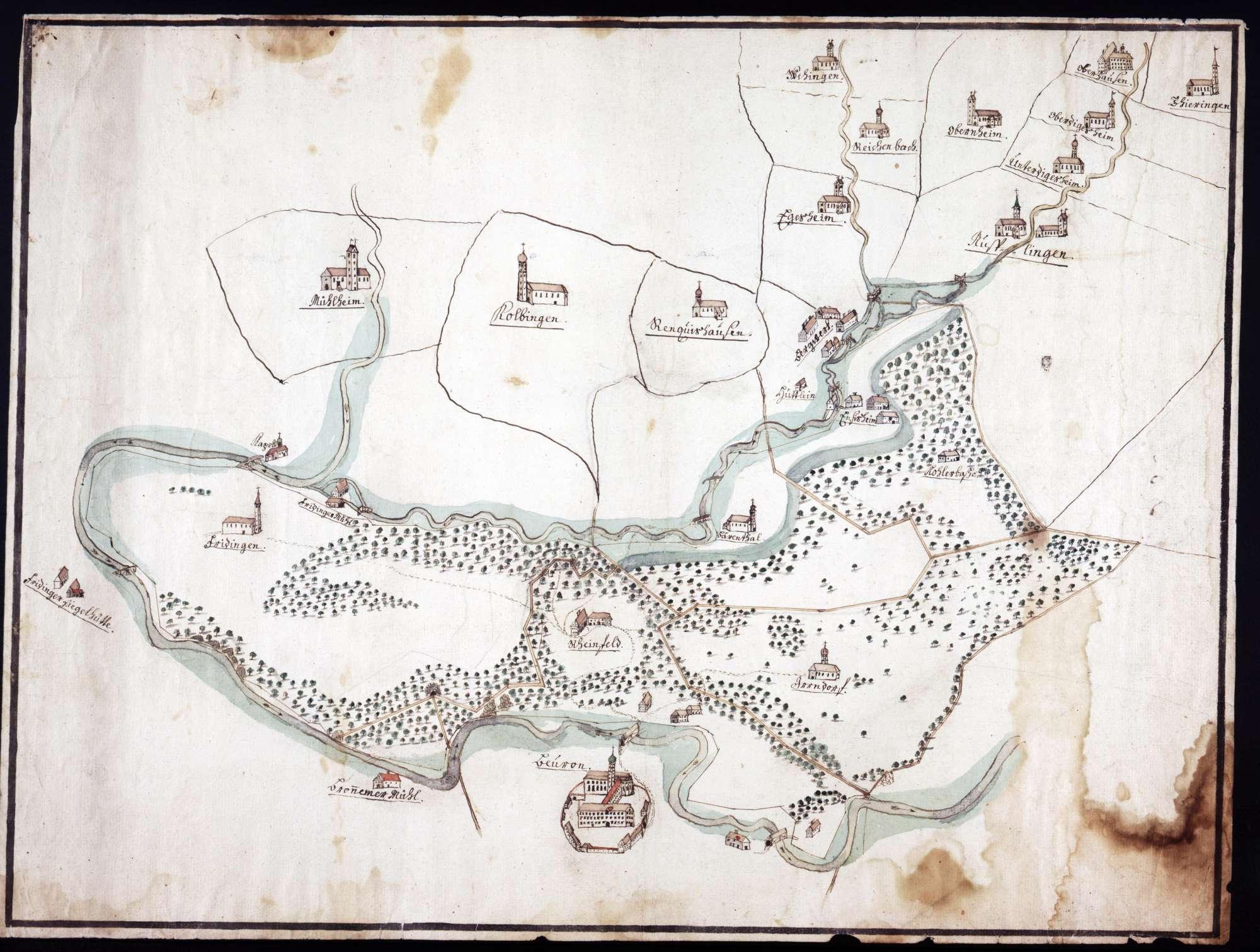 Karte über das Gebiet nördlich und westlich von Beuron, Bild 1