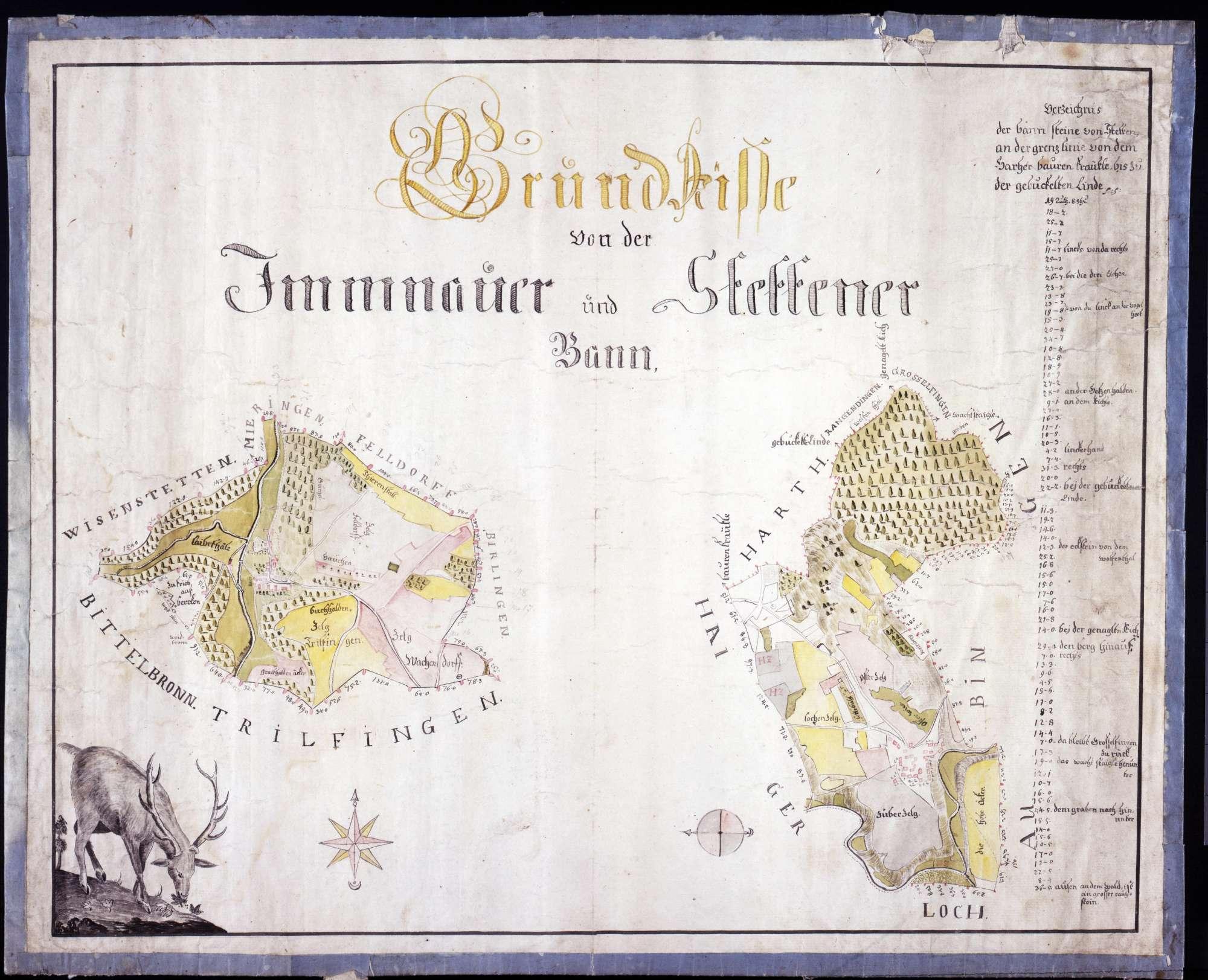 Grundrisse von der Imnauer und Stettener Bann, Bild 1