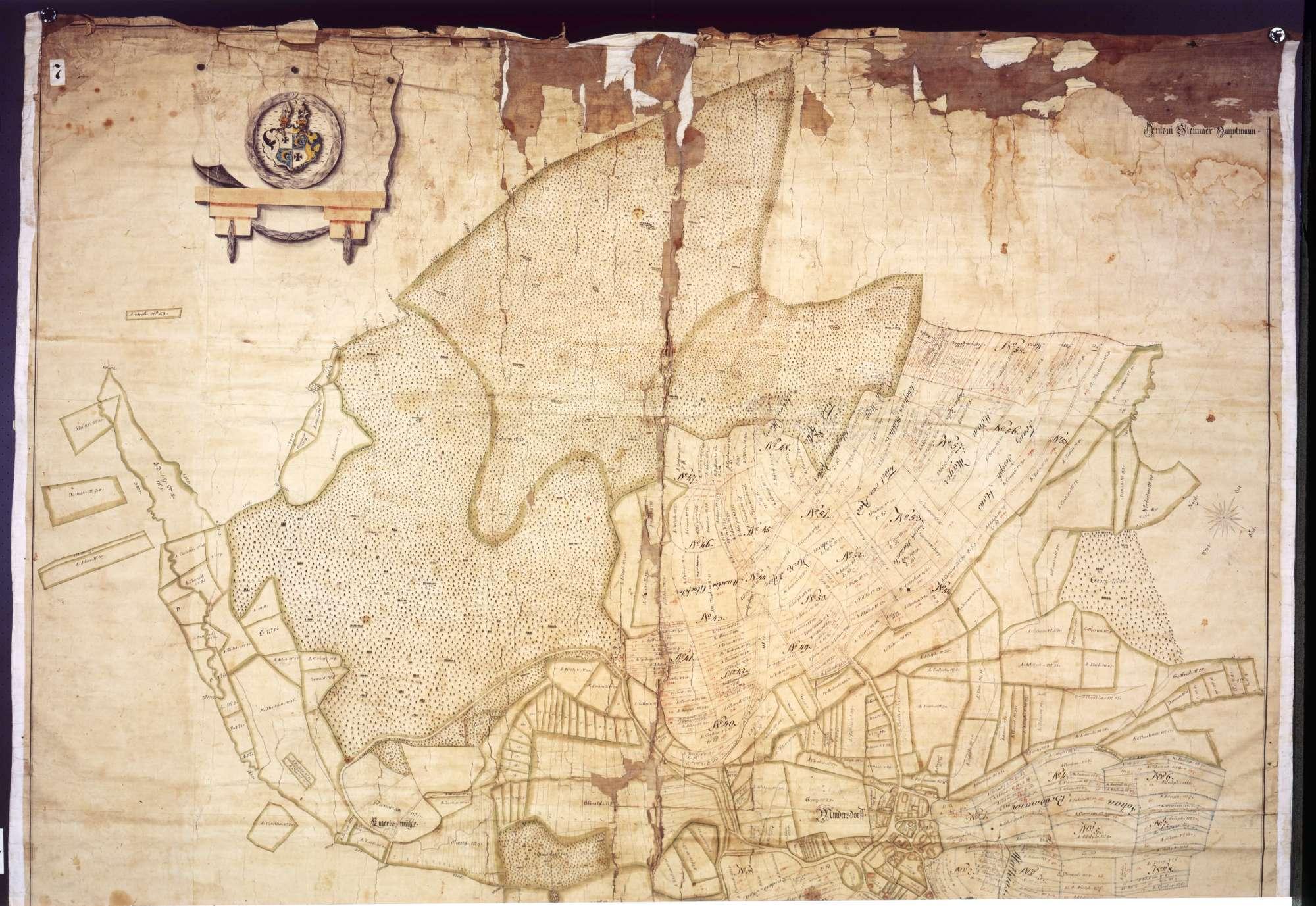 """Geometrische """"Mappa"""" über die Gemarkung Mindersdorf, Bild 1"""
