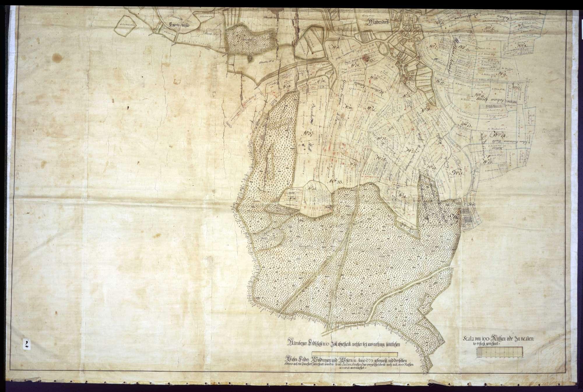 """Geometrische """"Mappa"""" über die Gemarkung Mindersdorf, Bild 2"""