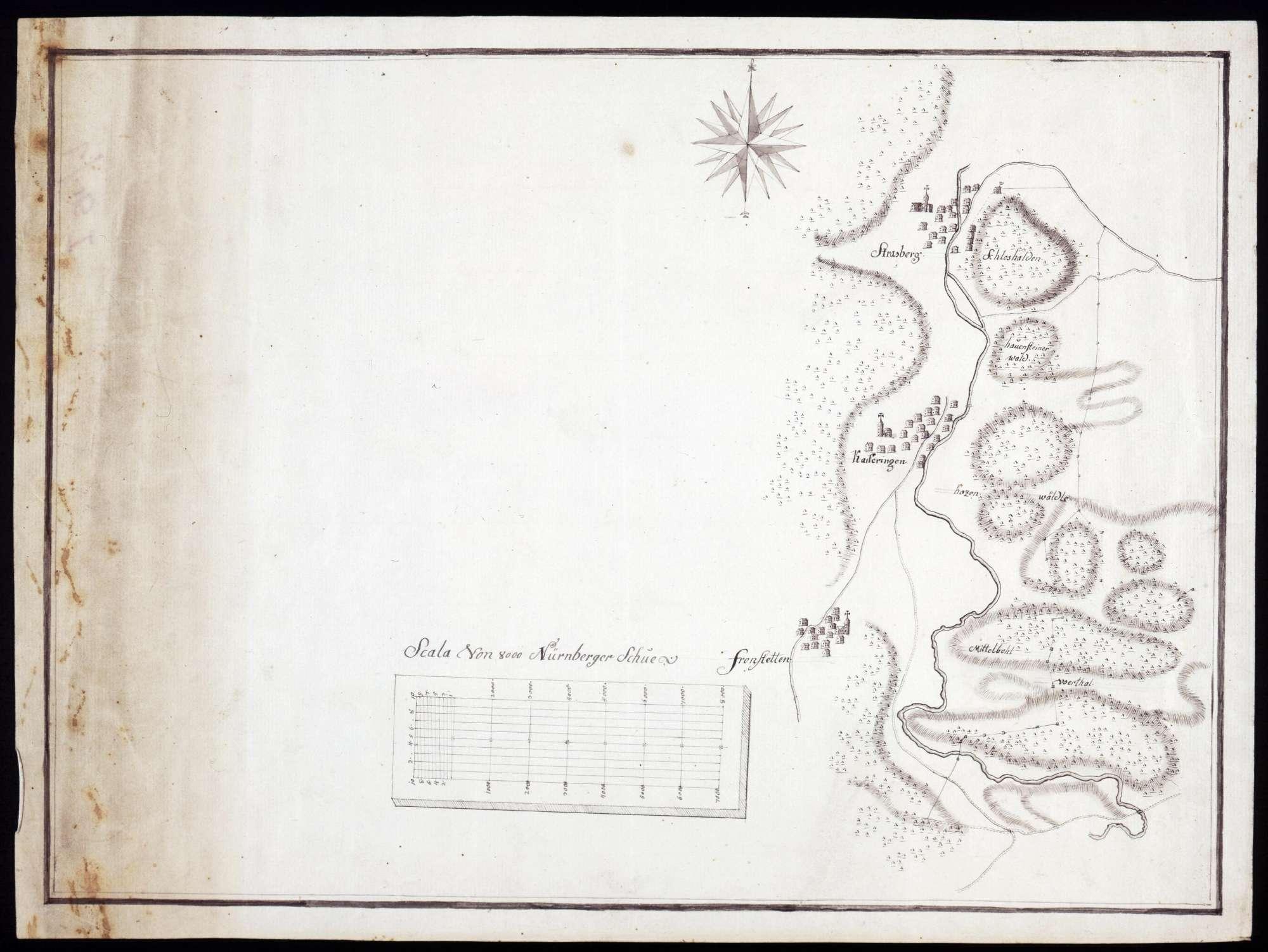 Lageplan von Straßberg, Kaiseringen und Frohnstetten, Bild 1