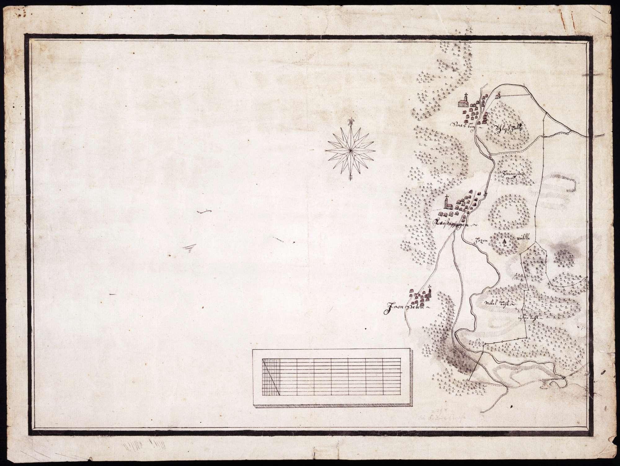 Lageplan von Straßberg, Kaiseringen und Frohnstetten, Bild 2