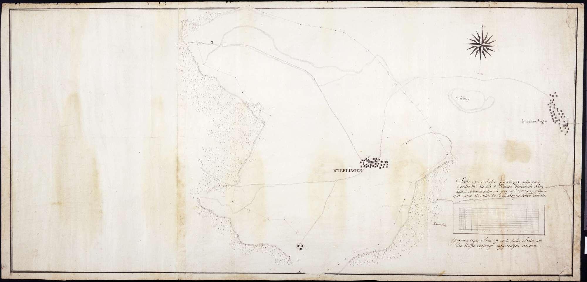 Lageplan des Etters von Wilflingen, Bild 1