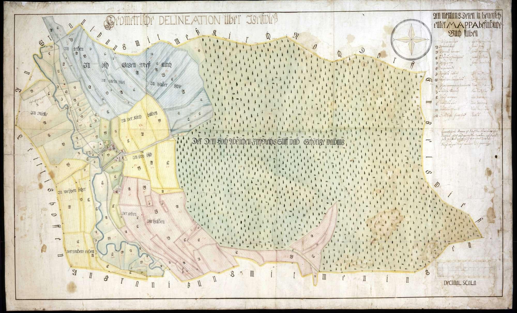 Geometrische Delineation über Igelswies, Bild 1
