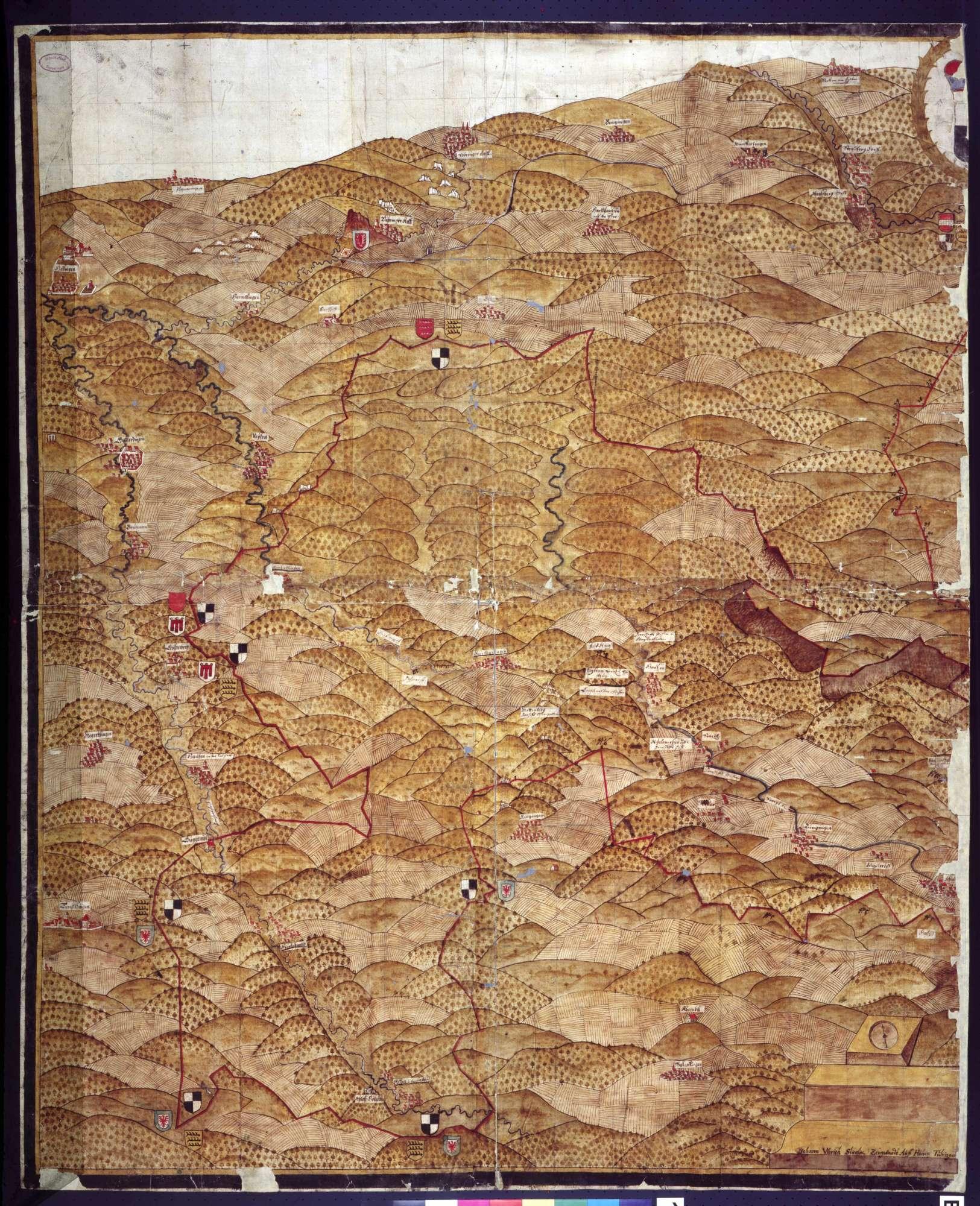 Hohenzollern-Hechingische Landkarte, Bild 1