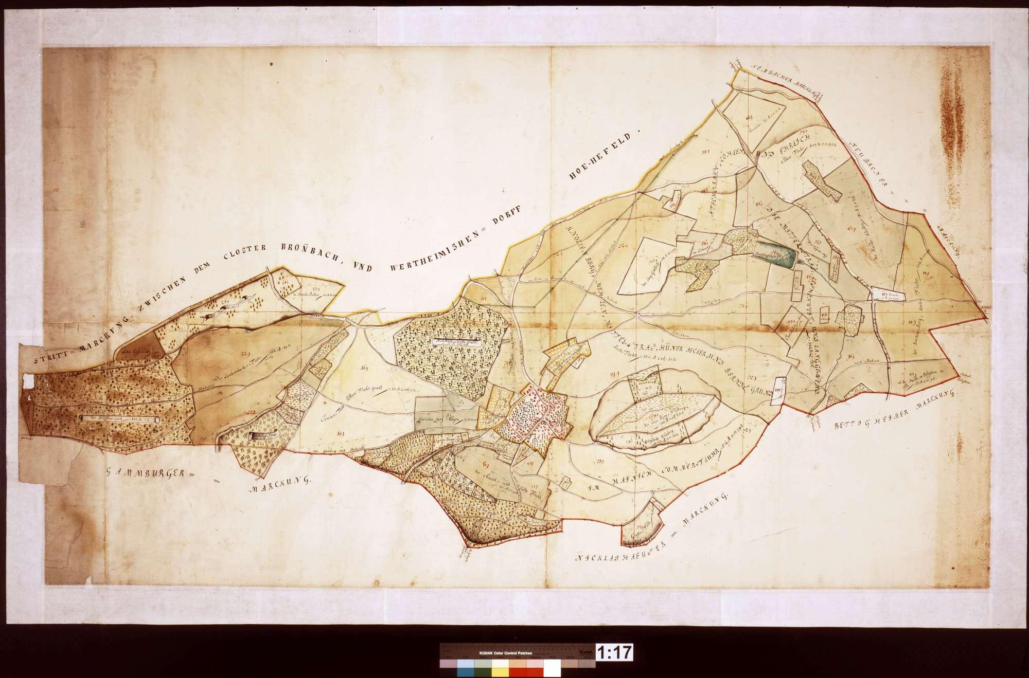 [Plan der Gemarkung Höhefeld], Bild 1
