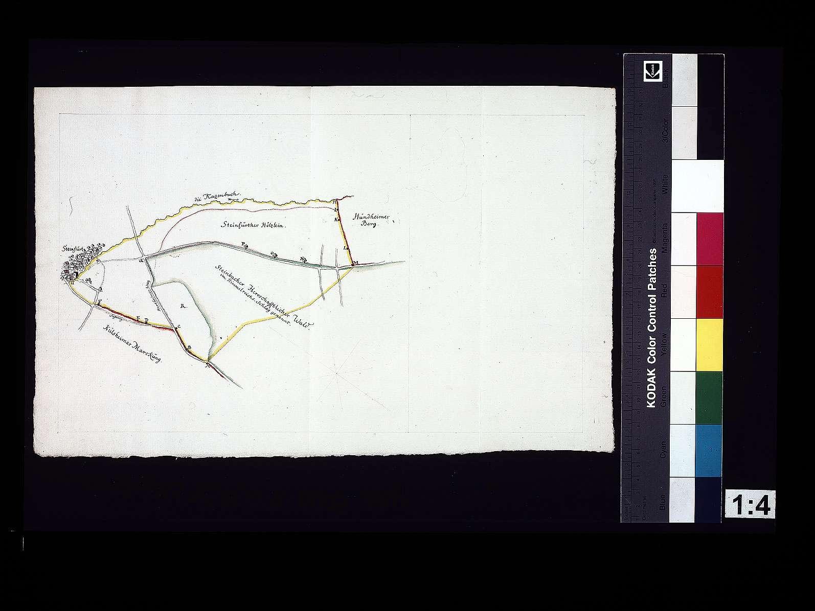 [Plan über die Grenze zwischen Steinbach und Steinfurt], Bild 1