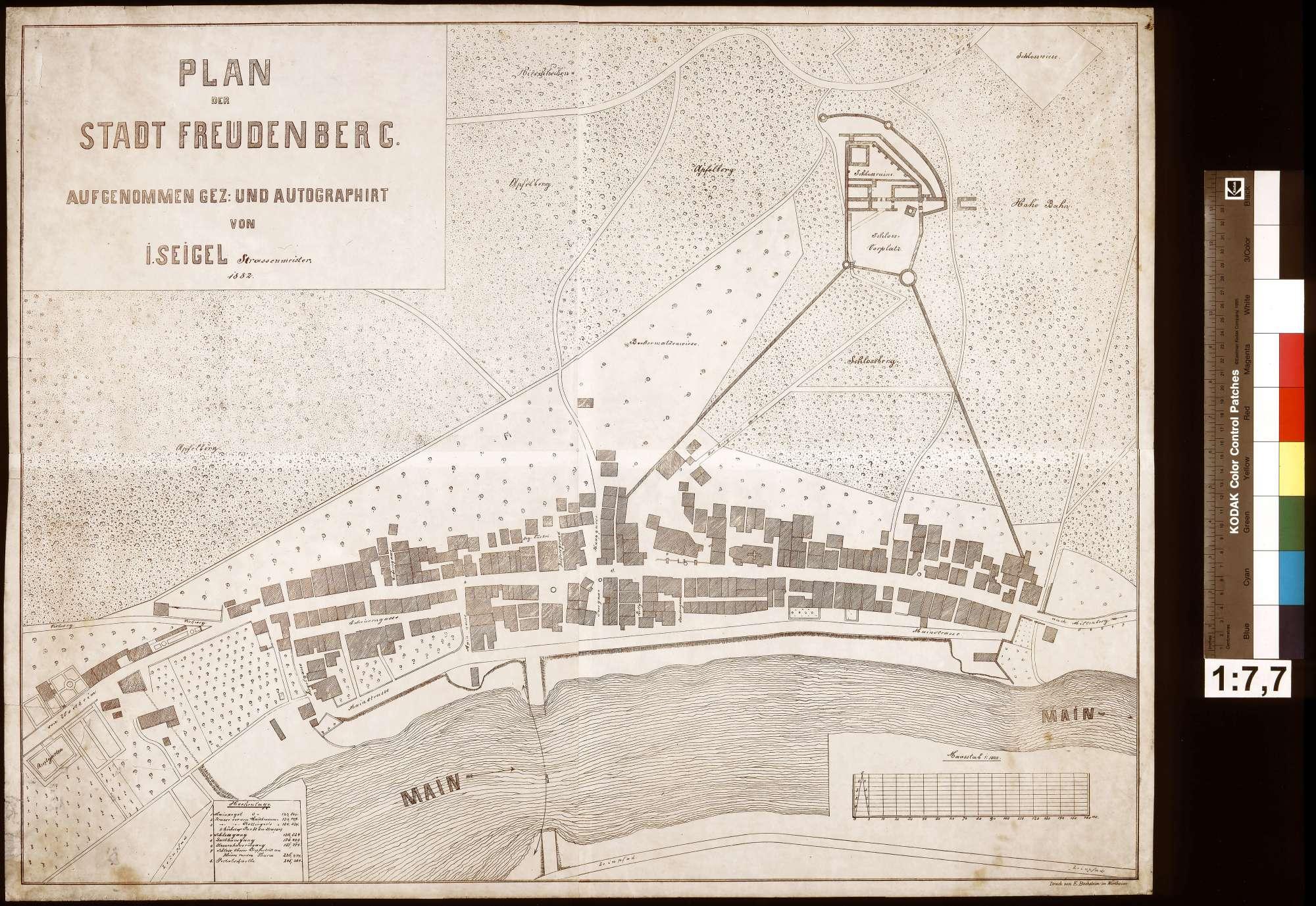 Plan der Stadt Freudenberg, Bild 1