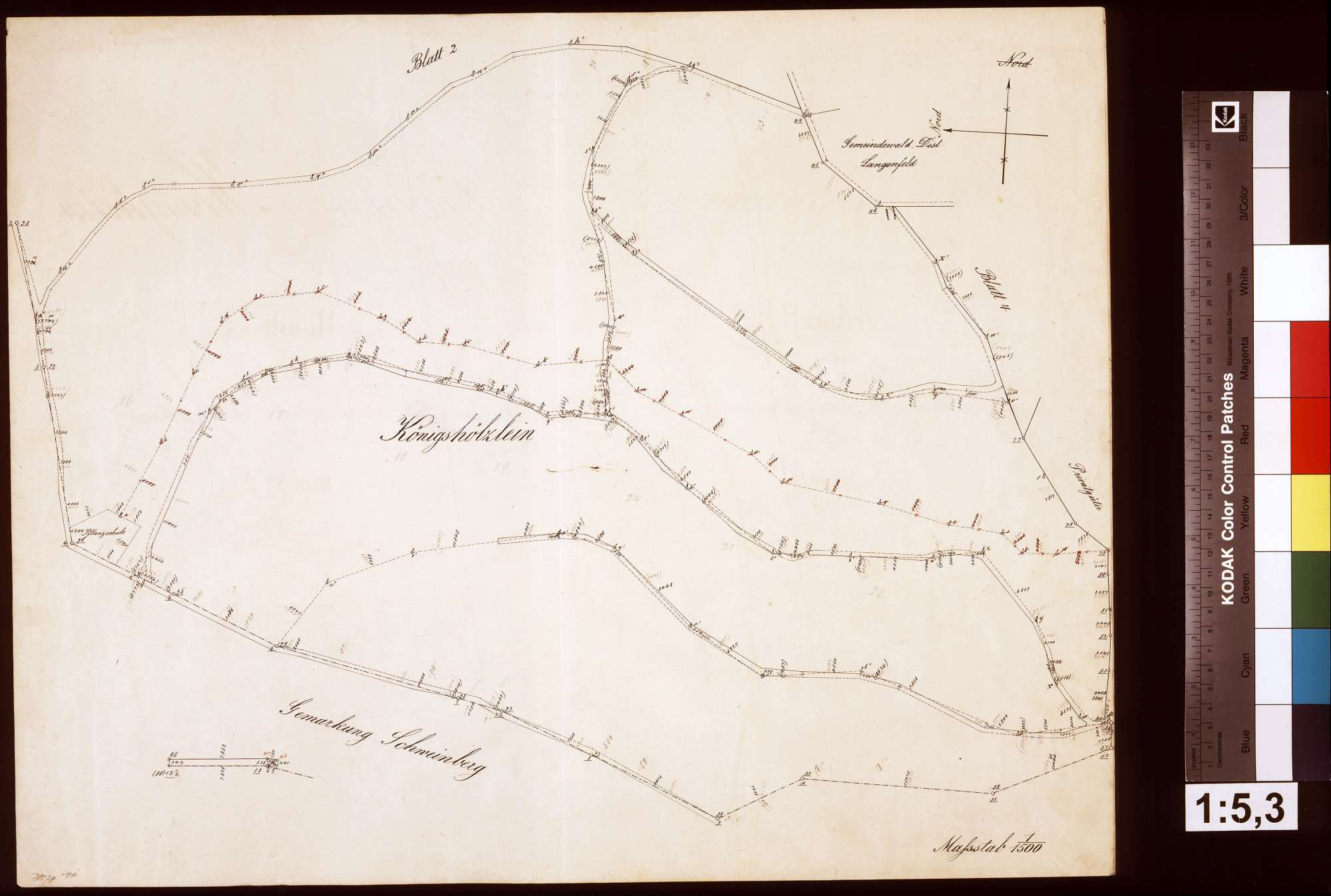 Stückweise Aufnahme der Gemarkung Königheim, Blatt 1