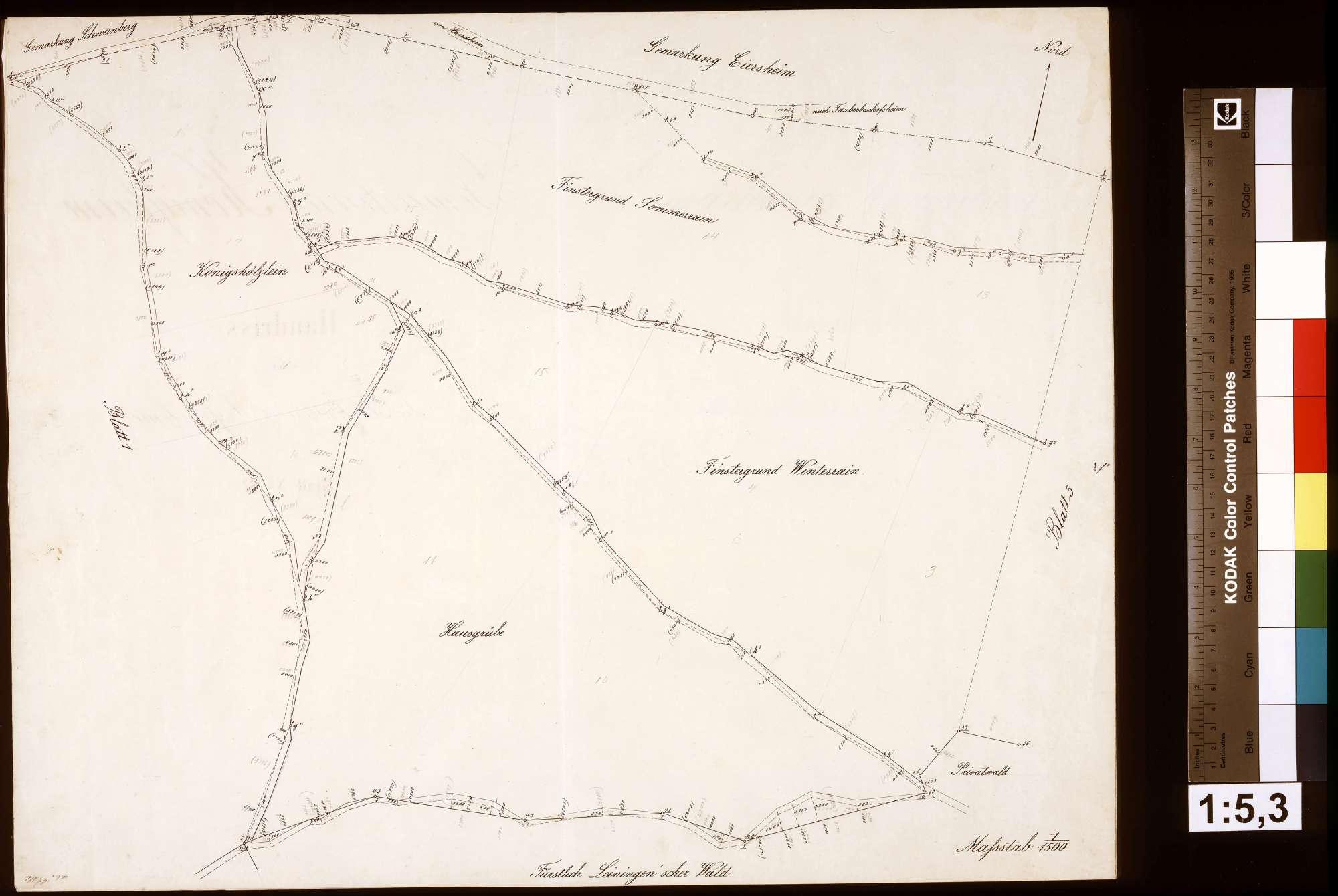 Stückweise Aufnahme der Gemarkung Königheim, Blatt 2