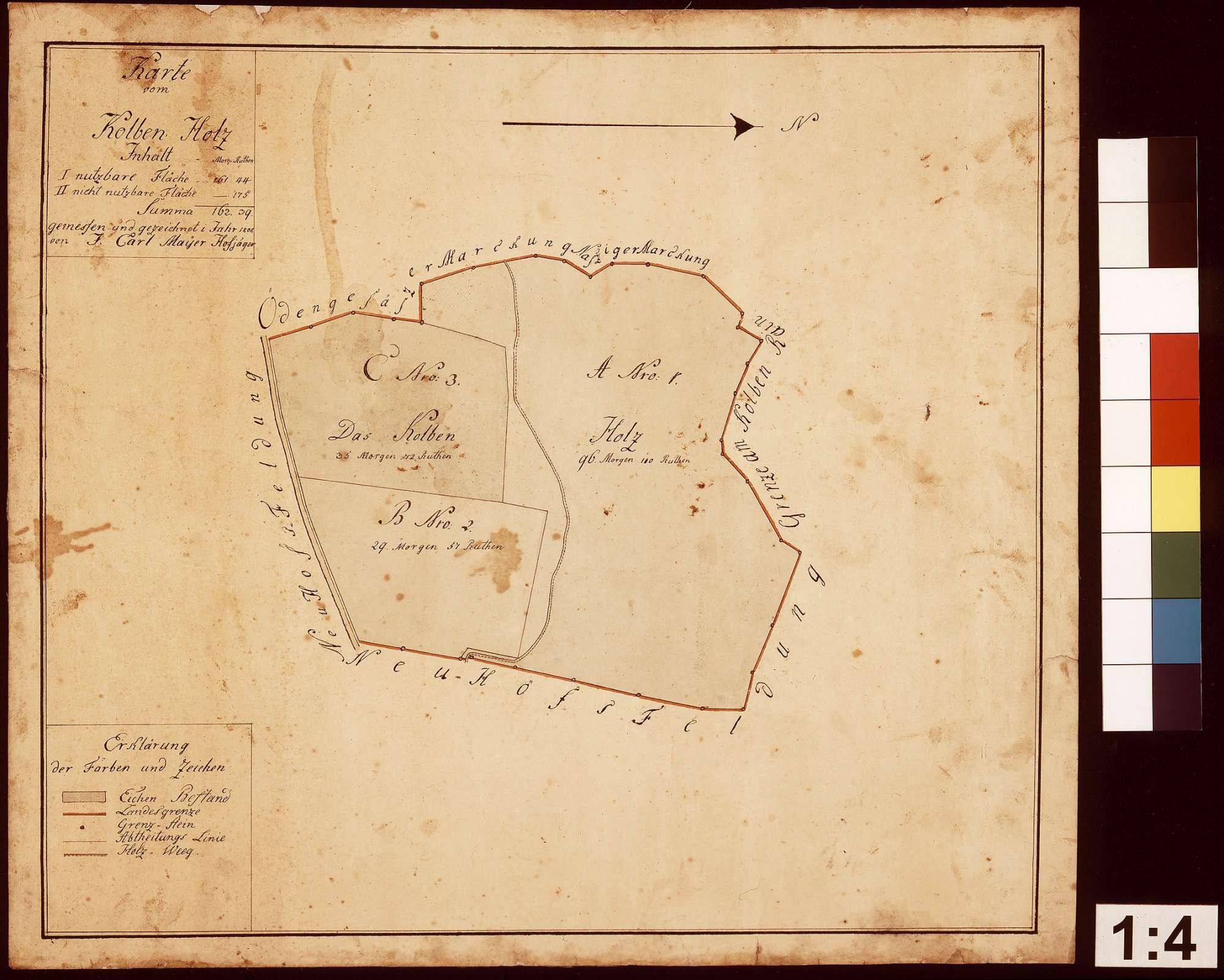 Karte vom Kolbenholz, Bild 1