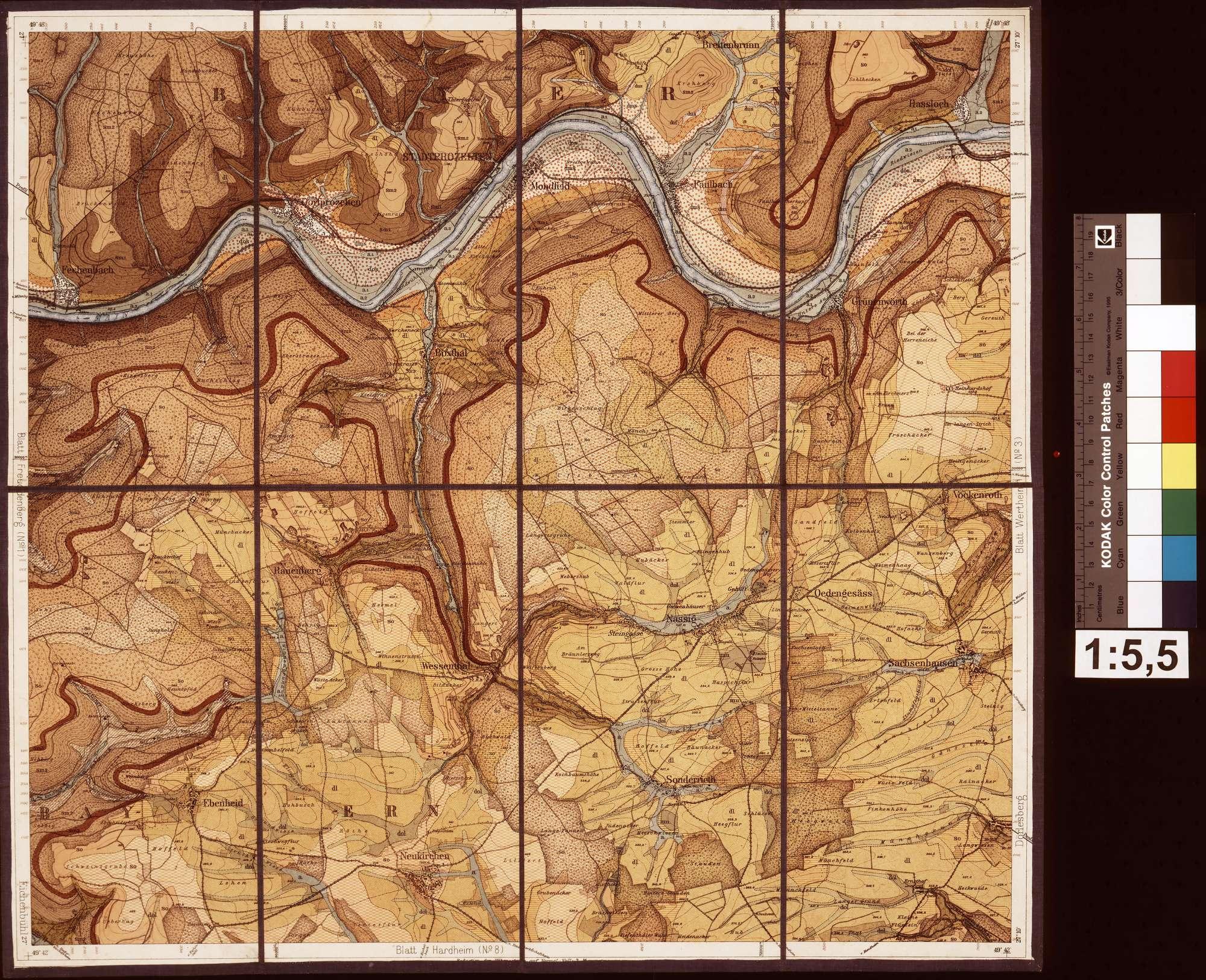 Geologische Spezialkarte von Baden, Blatt Nassig von der Badisch Geologischen Landesanstalt, Bild 1