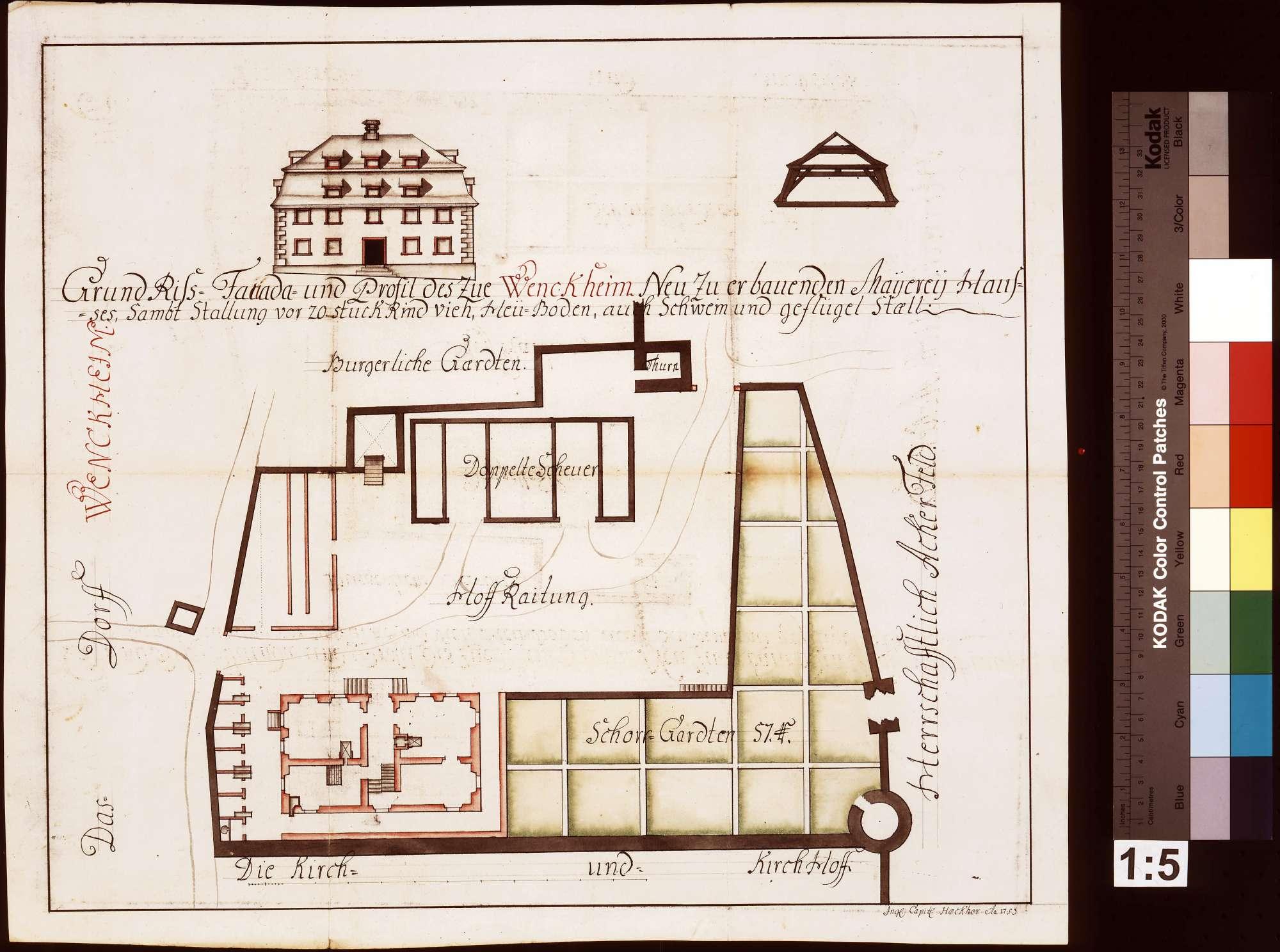 Zu Wenkheim neuzuerbauendes Meiereihaus samt Stallung für 20 Stück Vieh, Heuboden und Schweine- mit Geflügelstall, Bild 1