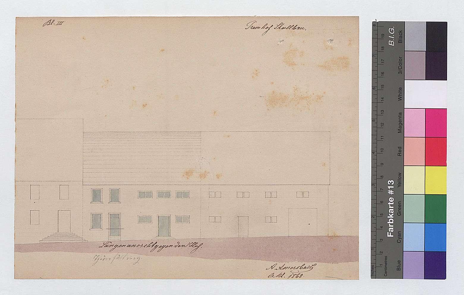 Umbau eines Stalles auf dem Hofgut Tremhof (Blatt I), Bild 1